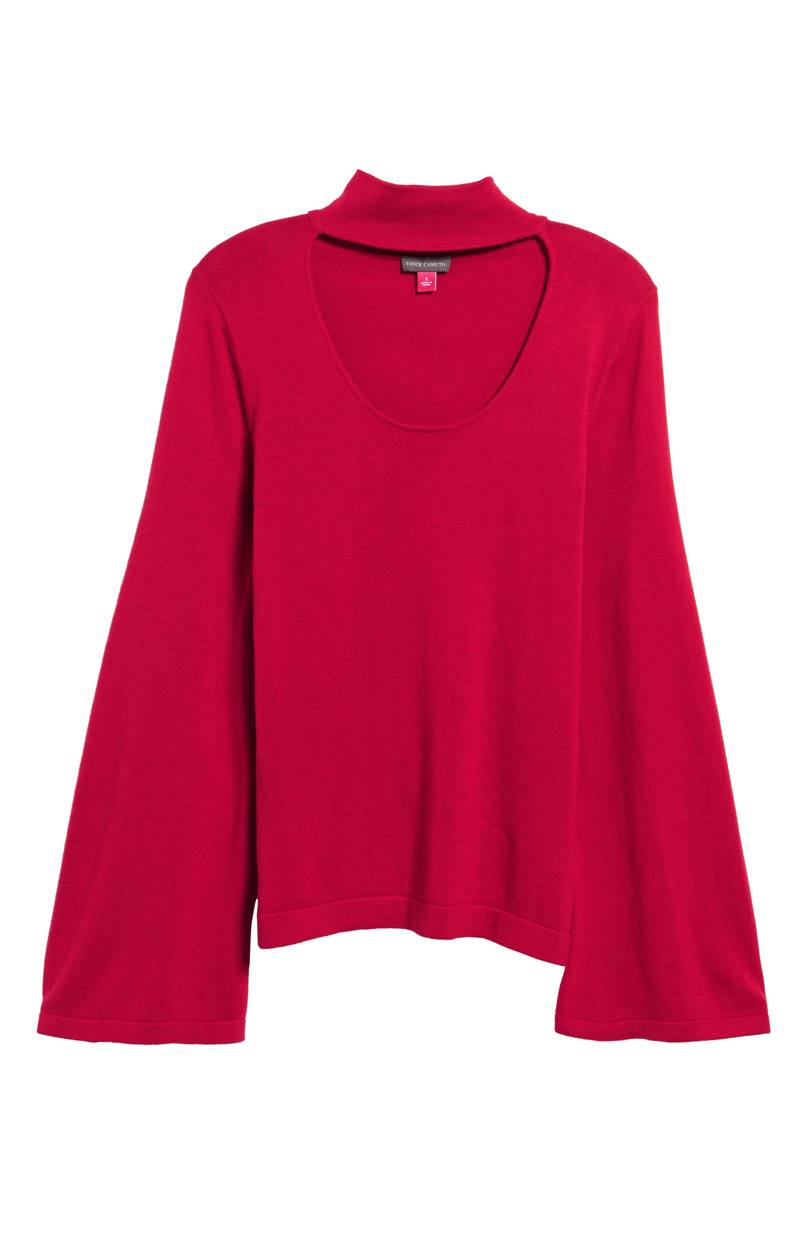Bell Sleeve Choker Neck Sweater,                             Alternate thumbnail 30, color,