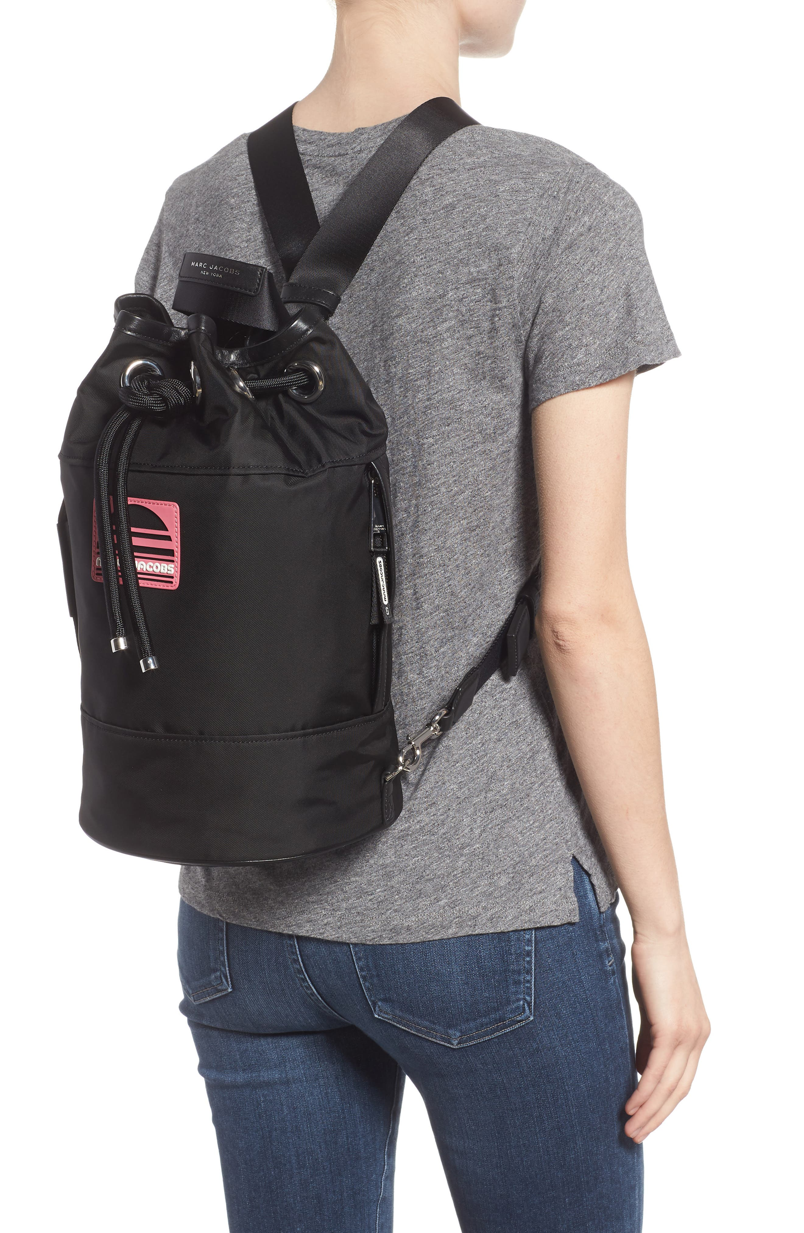 Nylon Sport Sling Bag,                             Alternate thumbnail 2, color,                             BLACK