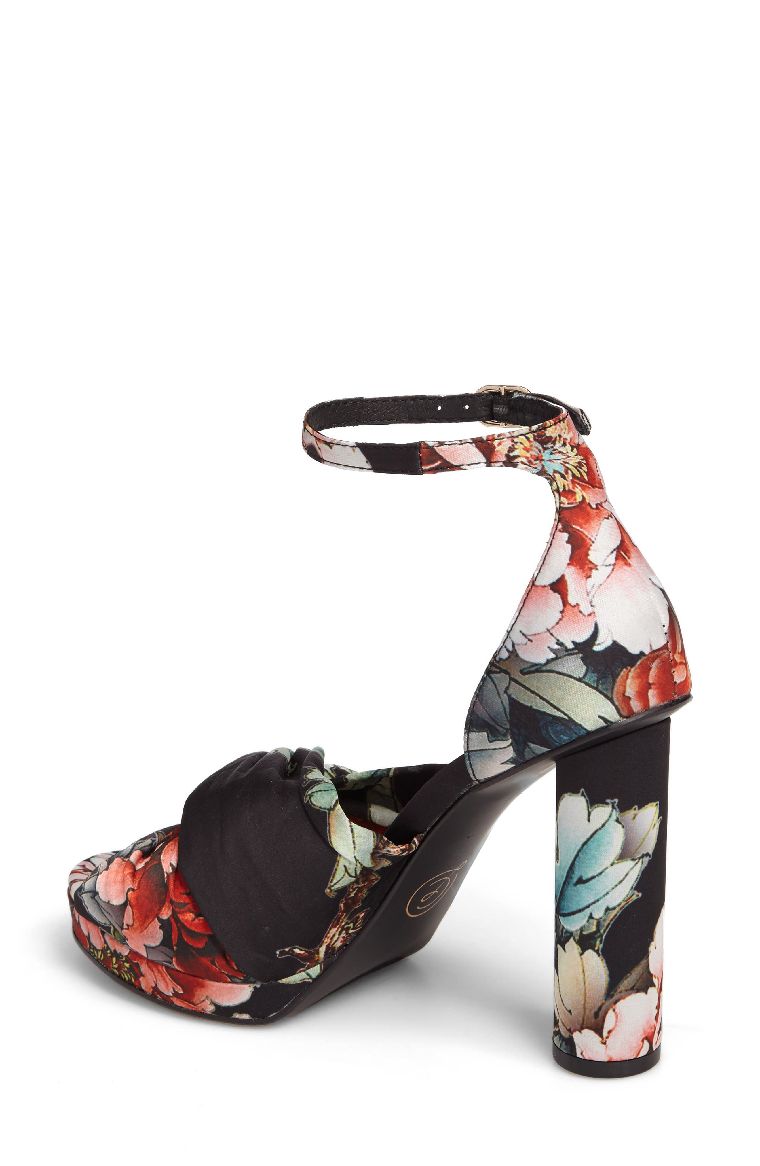 Flory Knotted Sandal,                             Alternate thumbnail 3, color,