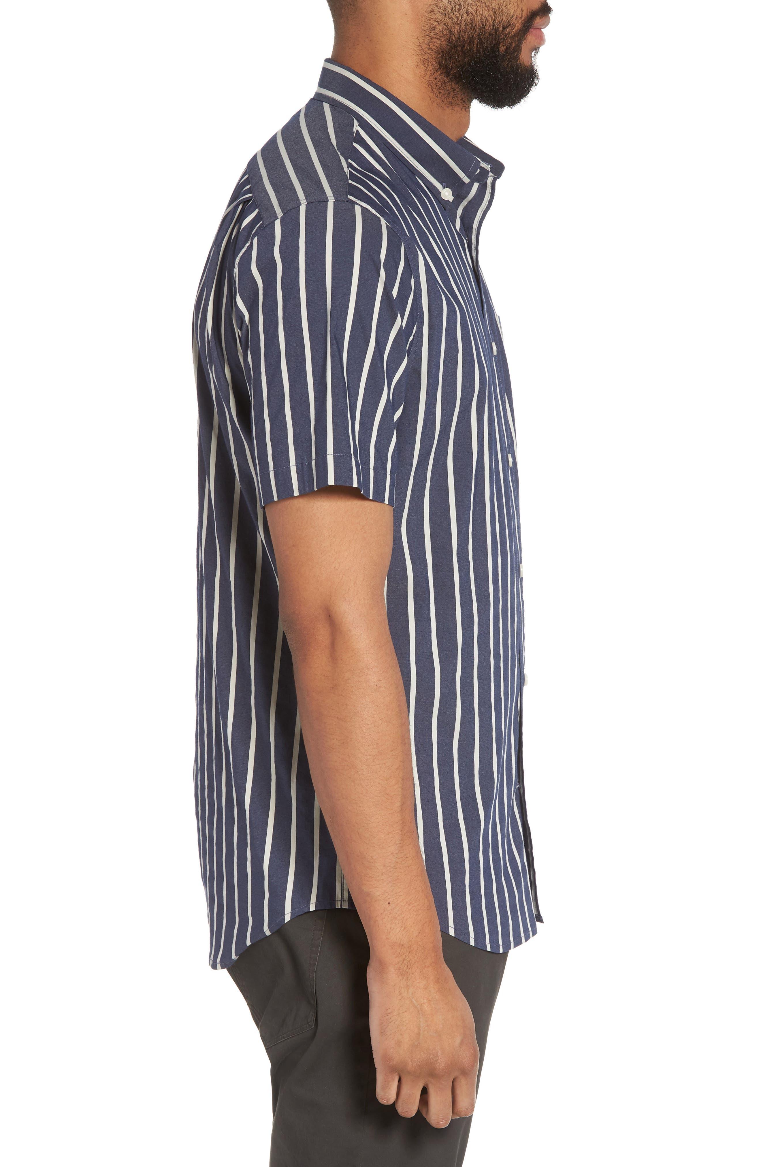 Regular Fit Stretch Short Sleeve Sport Shirt,                             Alternate thumbnail 3, color,                             463