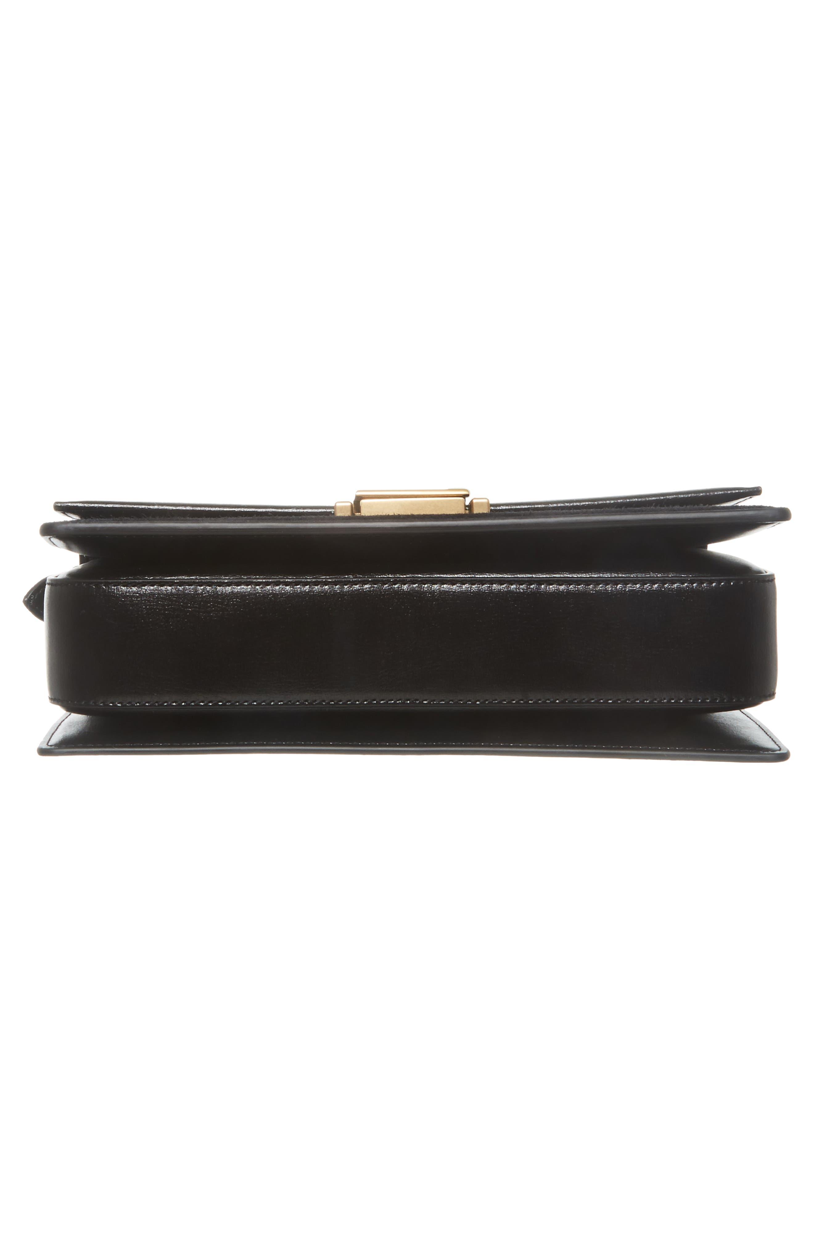 Medium Bellechasse Suede & Leather Shoulder Bag,                             Alternate thumbnail 6, color,                             NOIR