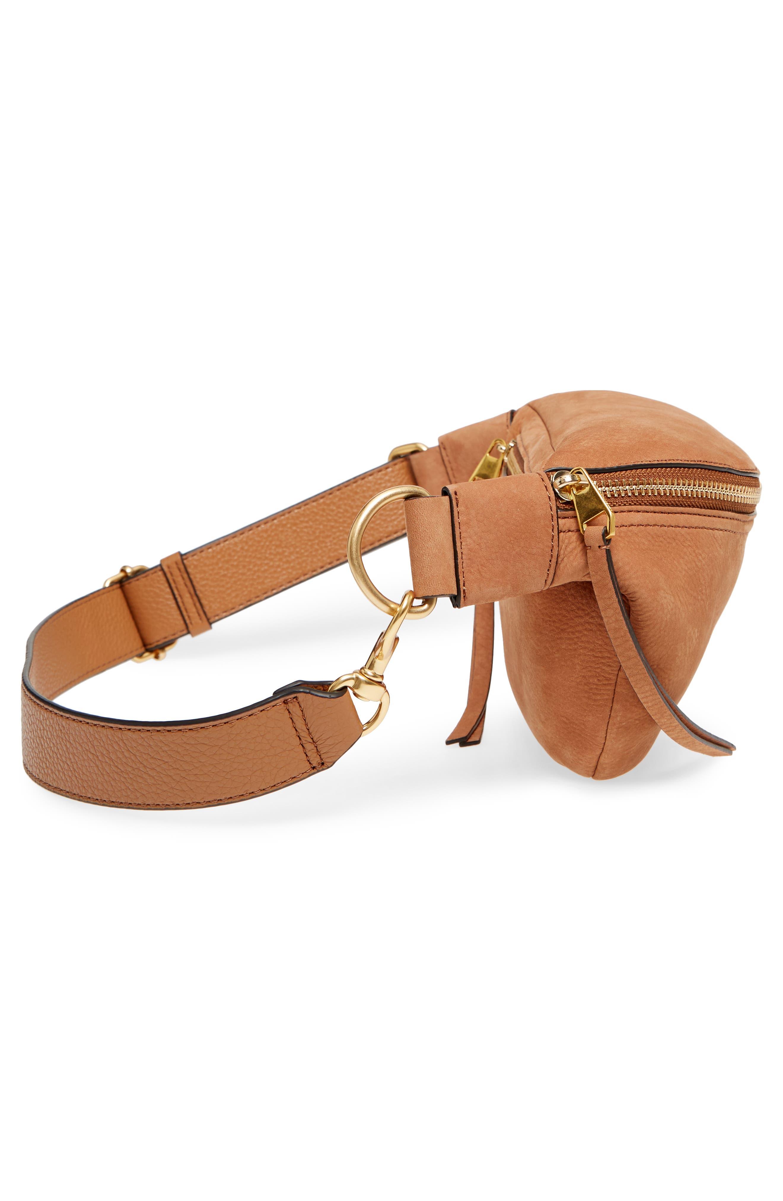 Bree Leather Belt Bag,                             Alternate thumbnail 5, color,                             230
