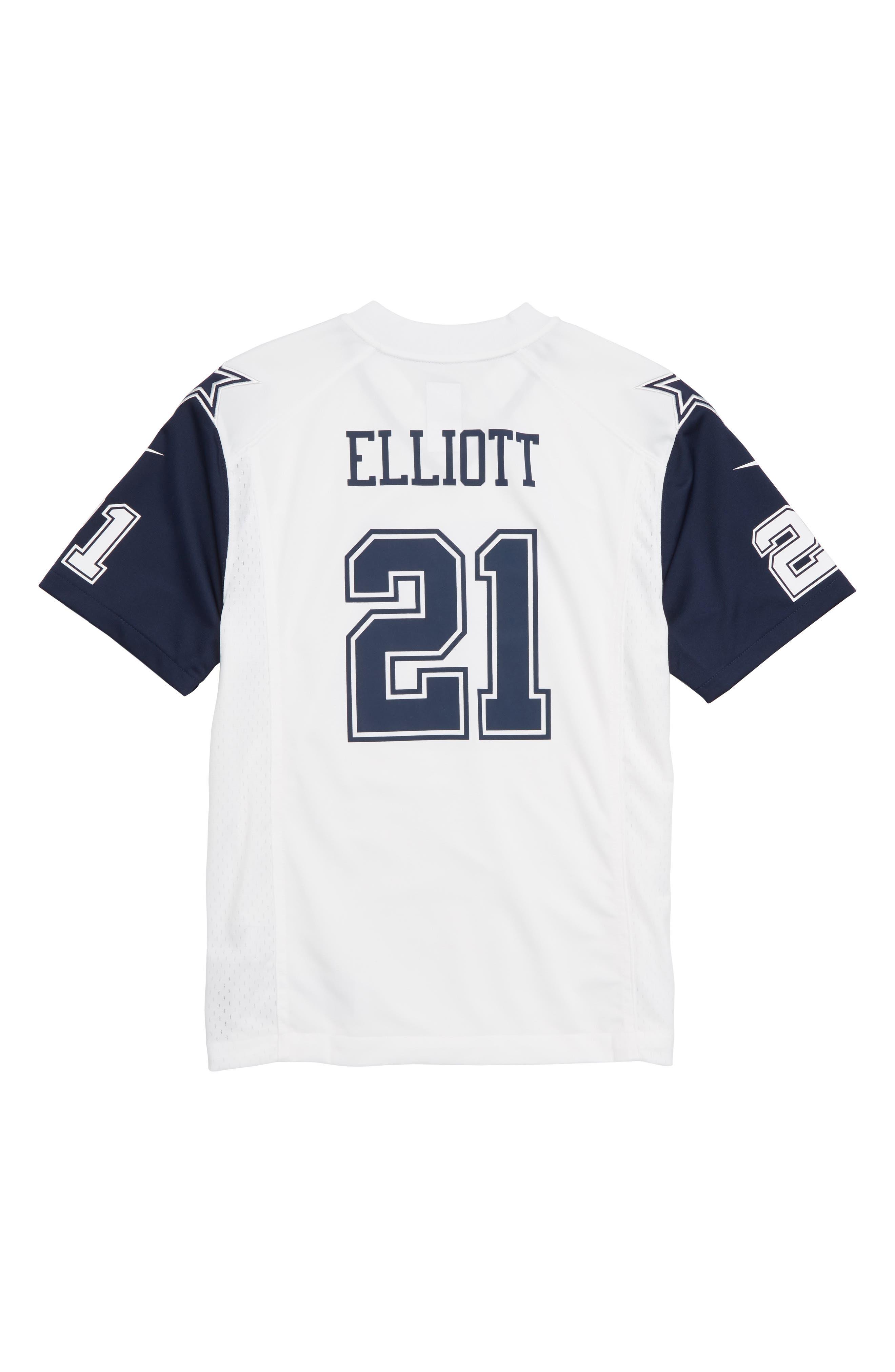 Nike NFL Dallas Cowboys Color Rush – Ezekiel Elliott Jersey,                             Alternate thumbnail 2, color,                             WHITE