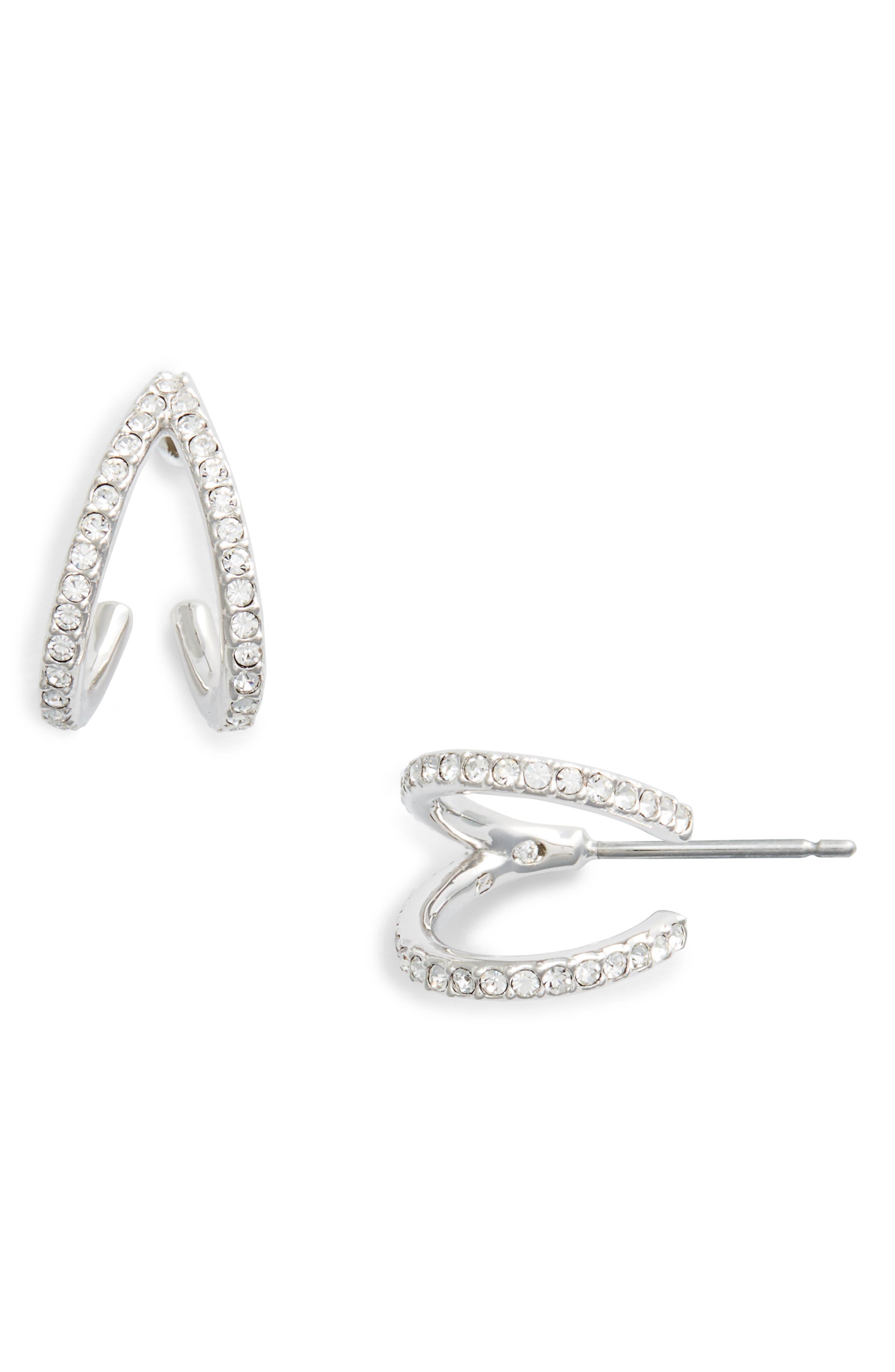 Reverse-V Hoop Earrings,                         Main,                         color,