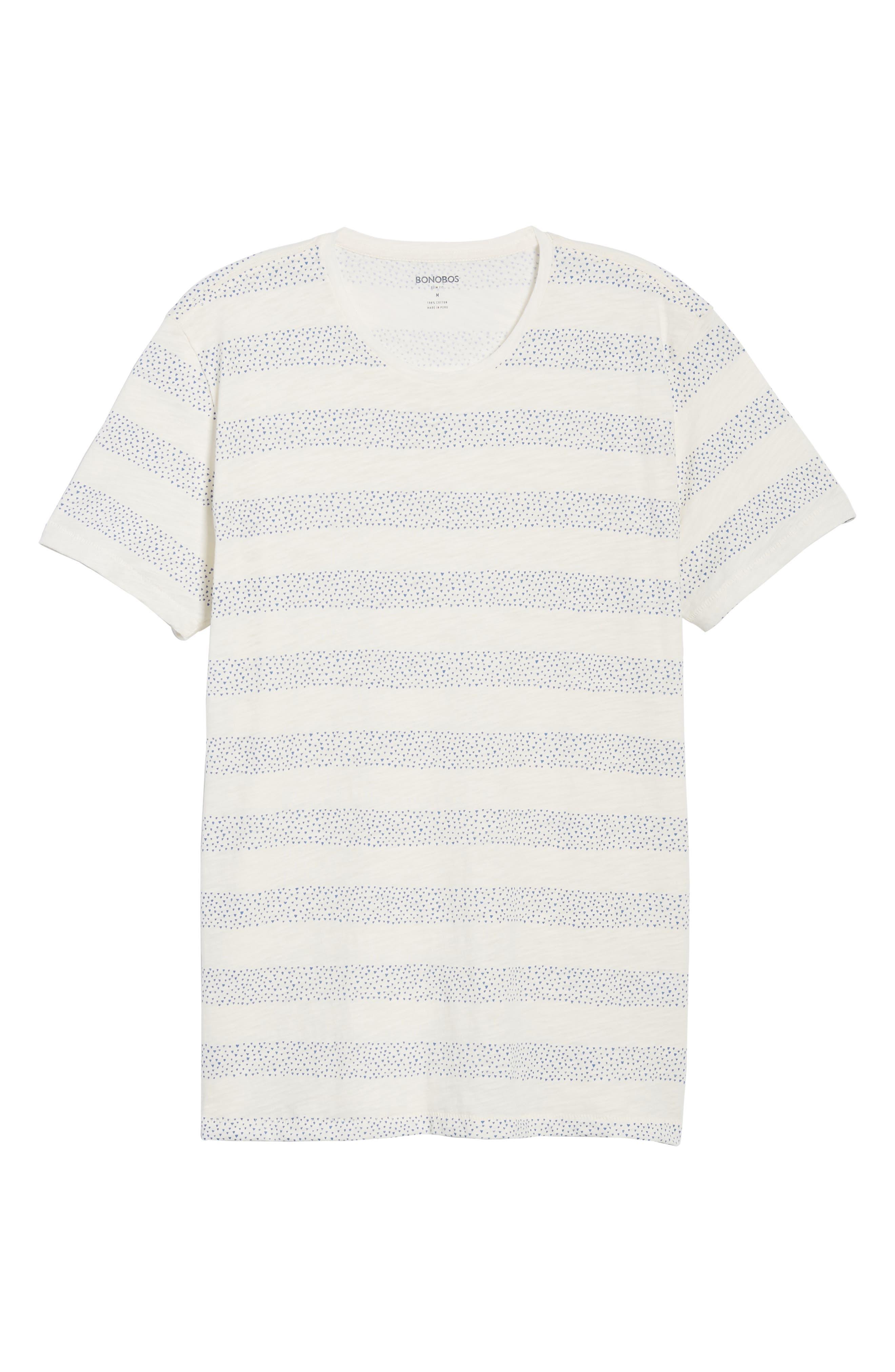 Stripe Slub T-Shirt,                             Alternate thumbnail 6, color,