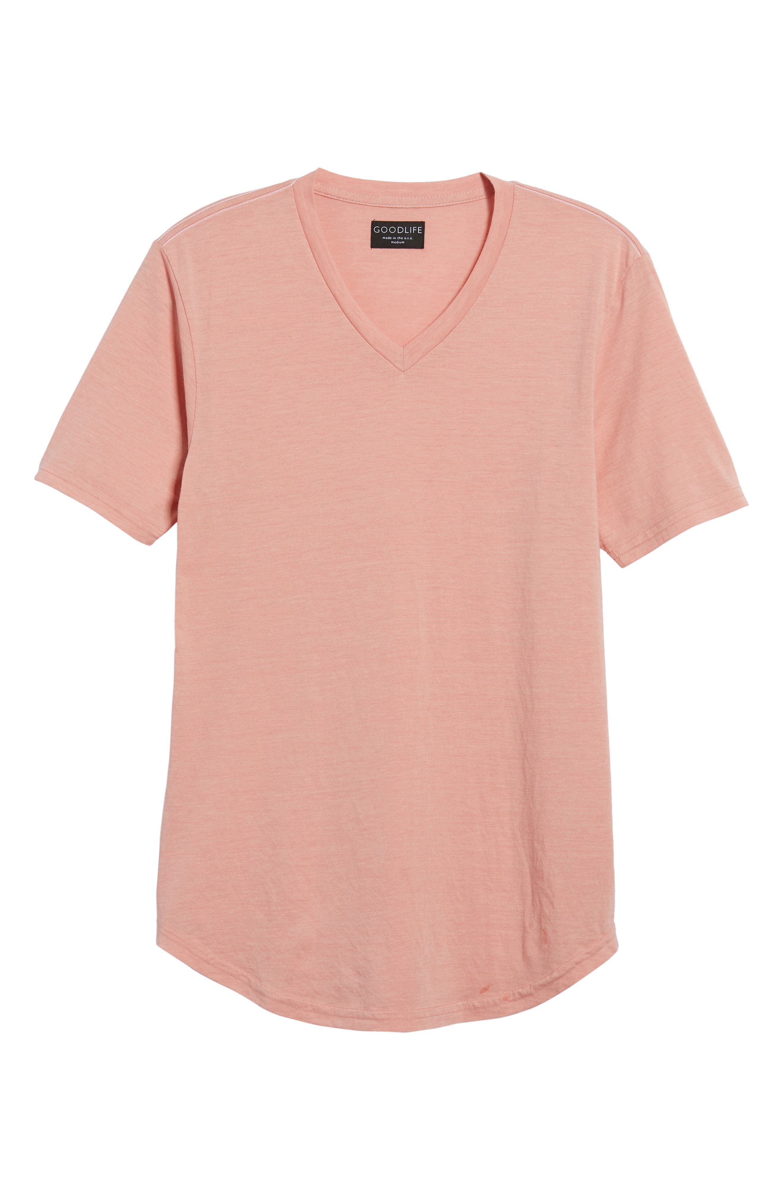 Scallop Triblend V-Neck T-Shirt,                             Alternate thumbnail 127, color,