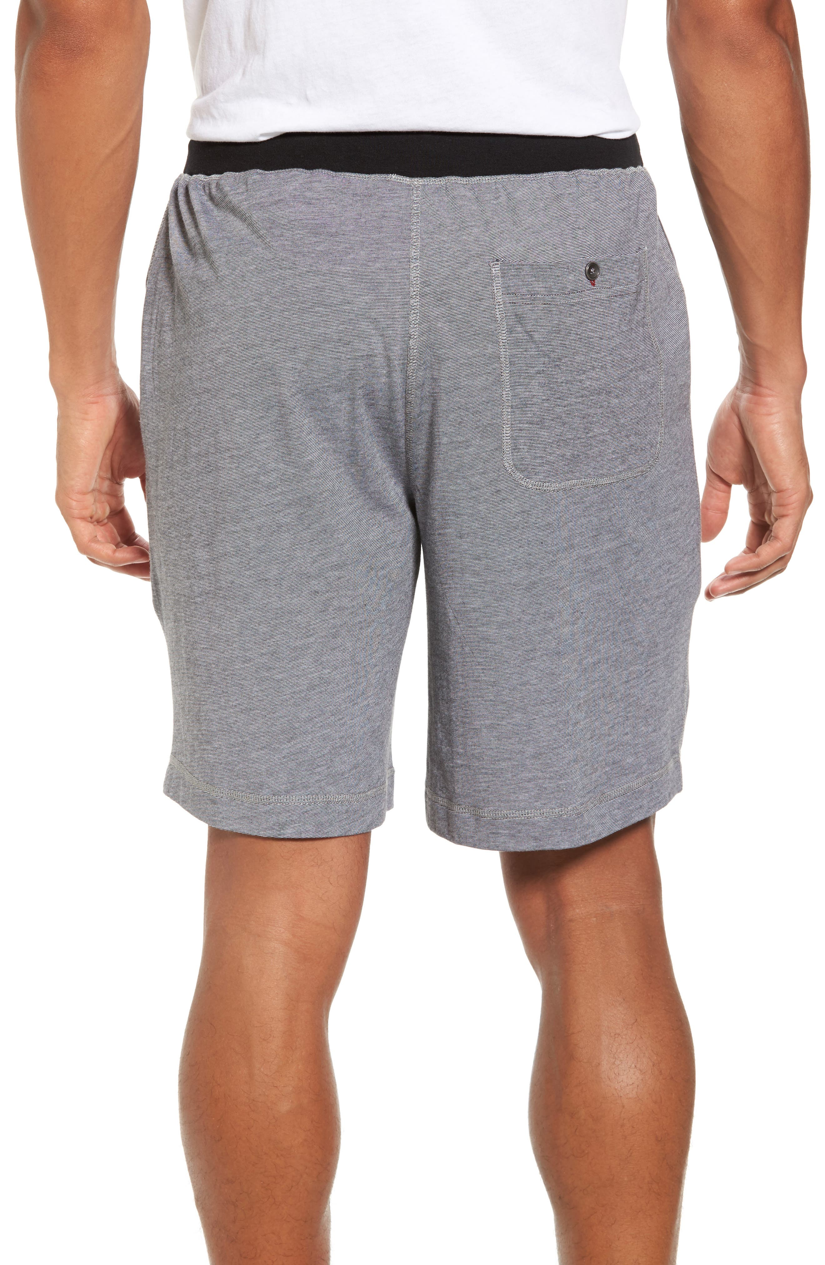 Pima Cotton & Modal Lounge Shorts,                             Alternate thumbnail 2, color,                             001