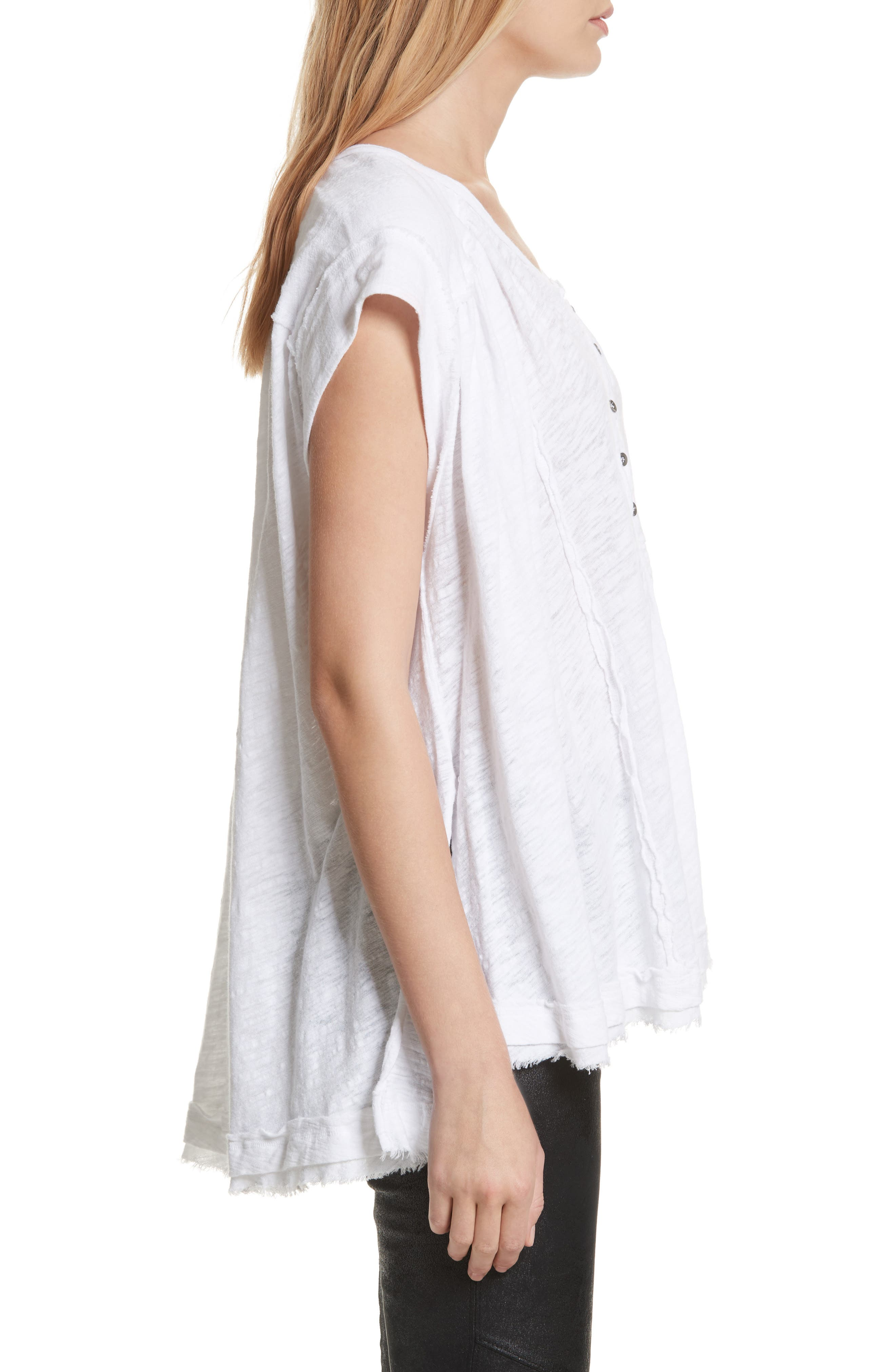 We the Free by Free People Aster Henley Top,                             Alternate thumbnail 3, color,                             WHITE