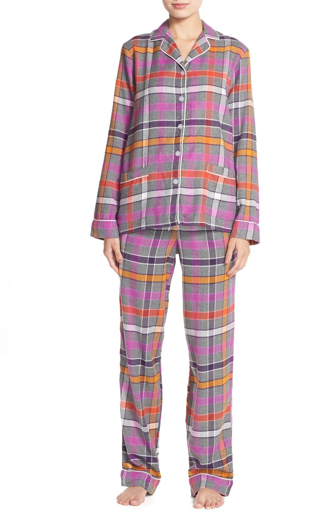 Flannel Pajamas,                             Main thumbnail 1, color,                             060
