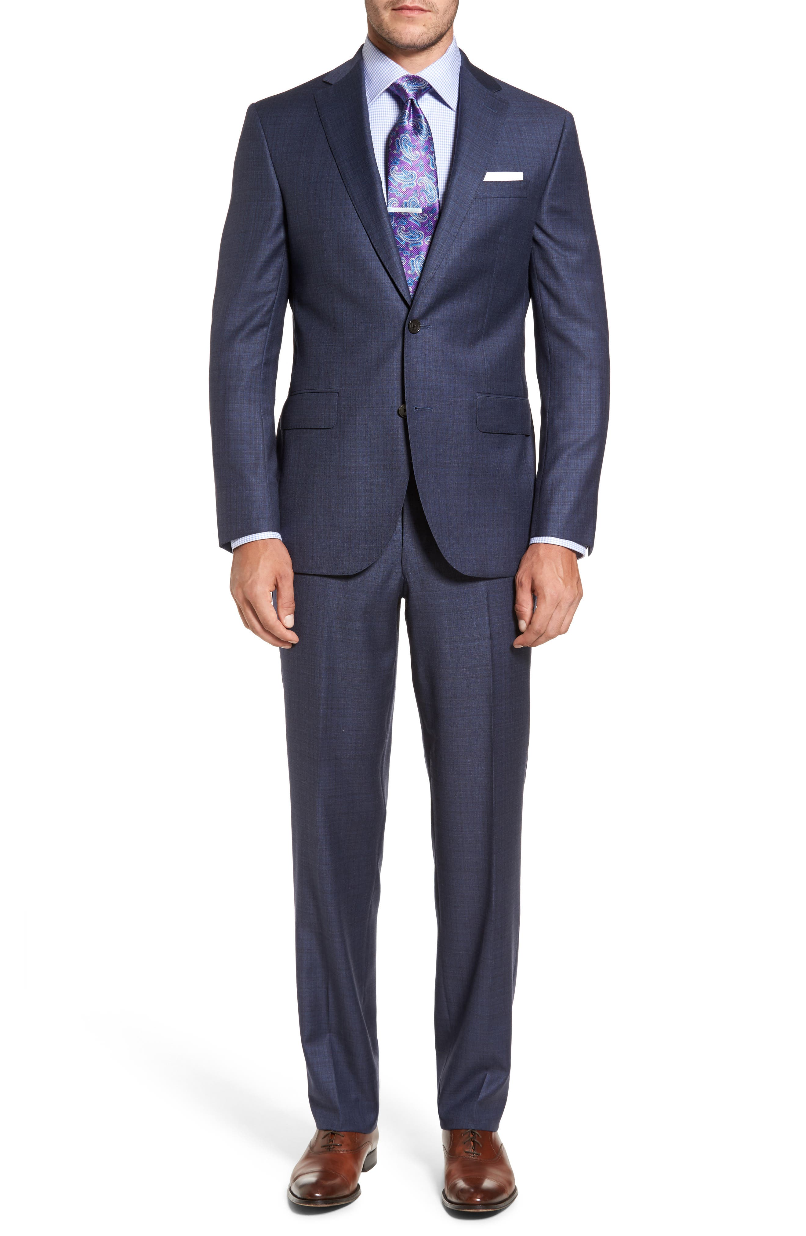 Ryan Classic Fit Check Wool Suit,                         Main,                         color, 420