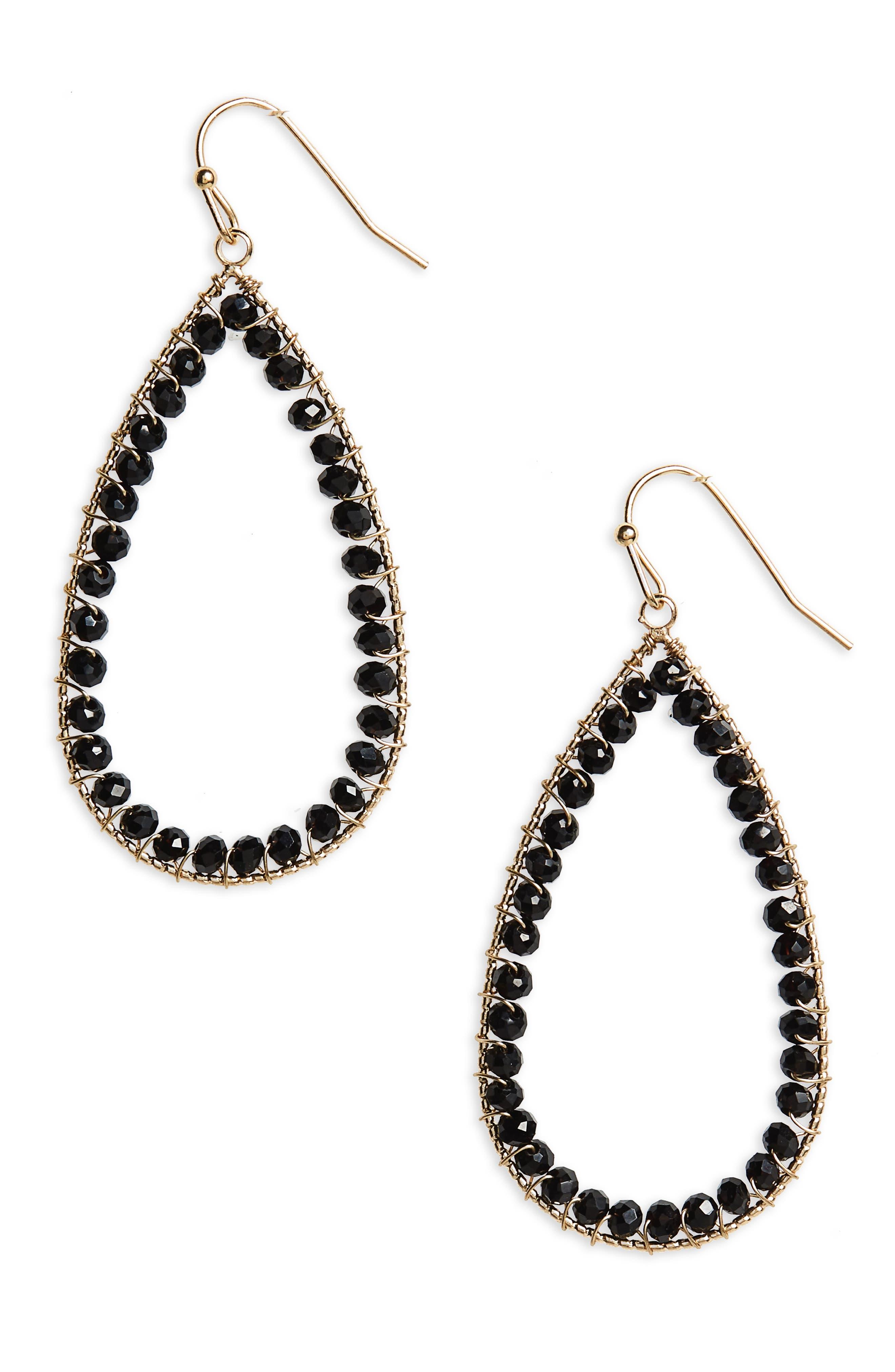 Teardrop Earrings,                         Main,                         color, 001