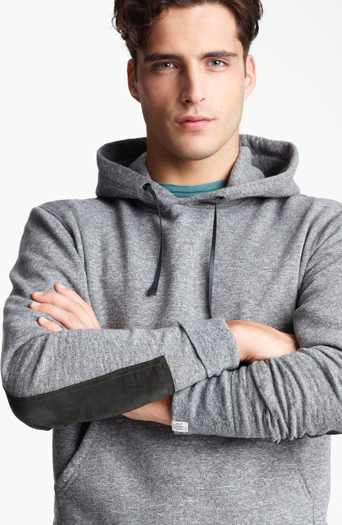 Elbow Patch Hoodie,                             Alternate thumbnail 2, color,                             020
