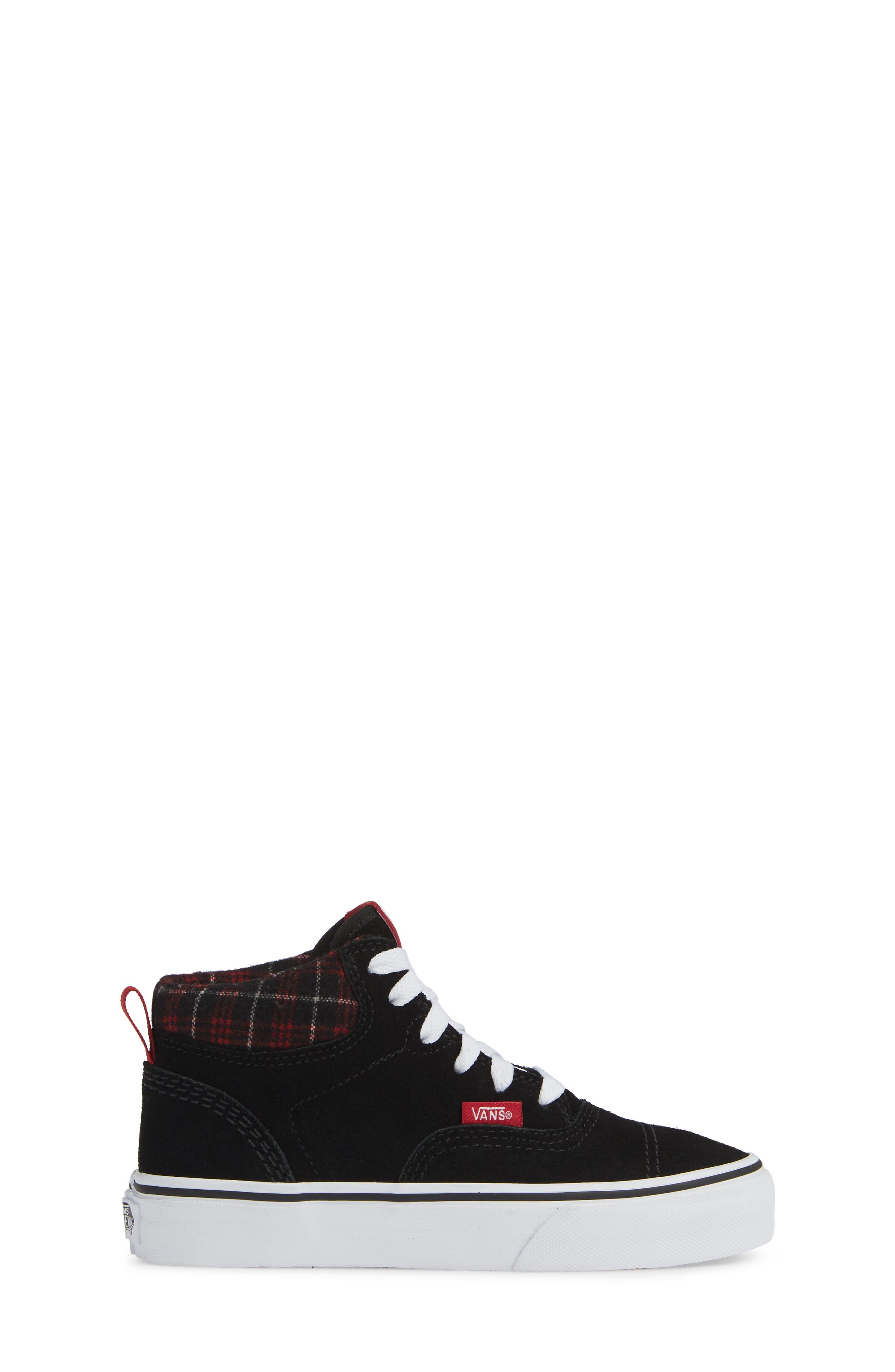 Era - Hi Sneaker,                             Alternate thumbnail 3, color,                             SUEDE AND PLAID BLACK/ WHITE
