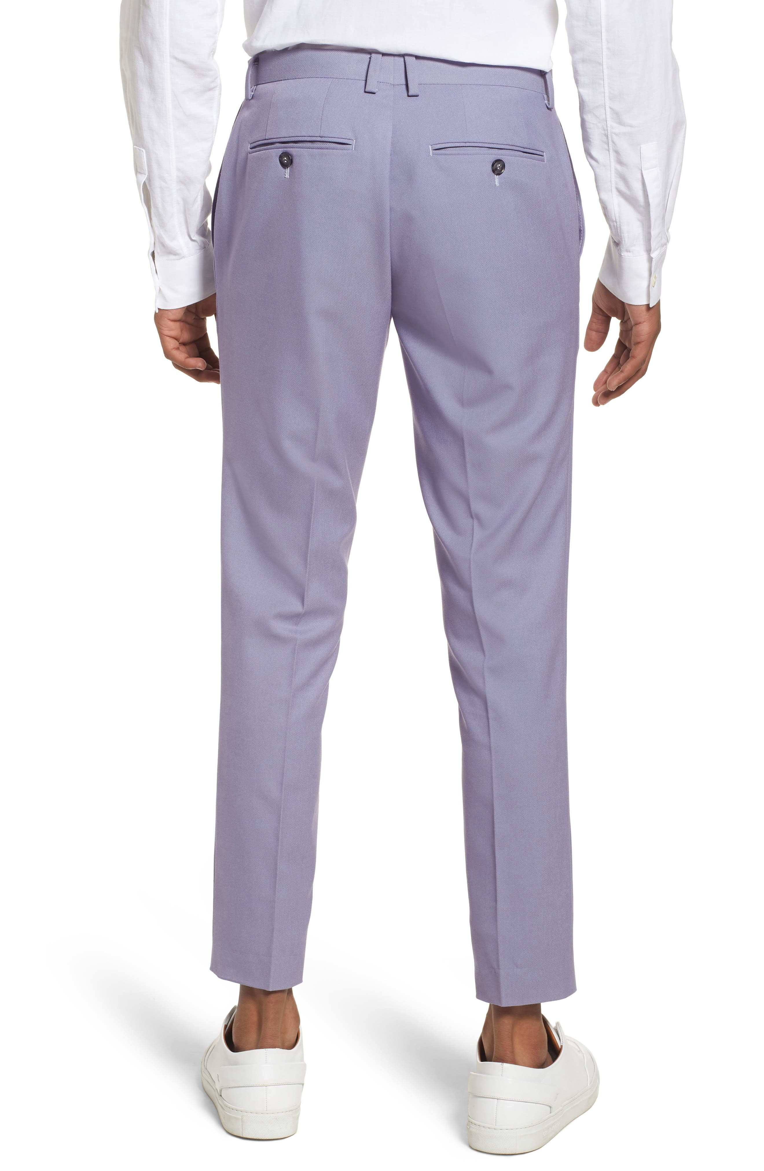 Skinny Fit Suit Trousers,                             Alternate thumbnail 4, color,