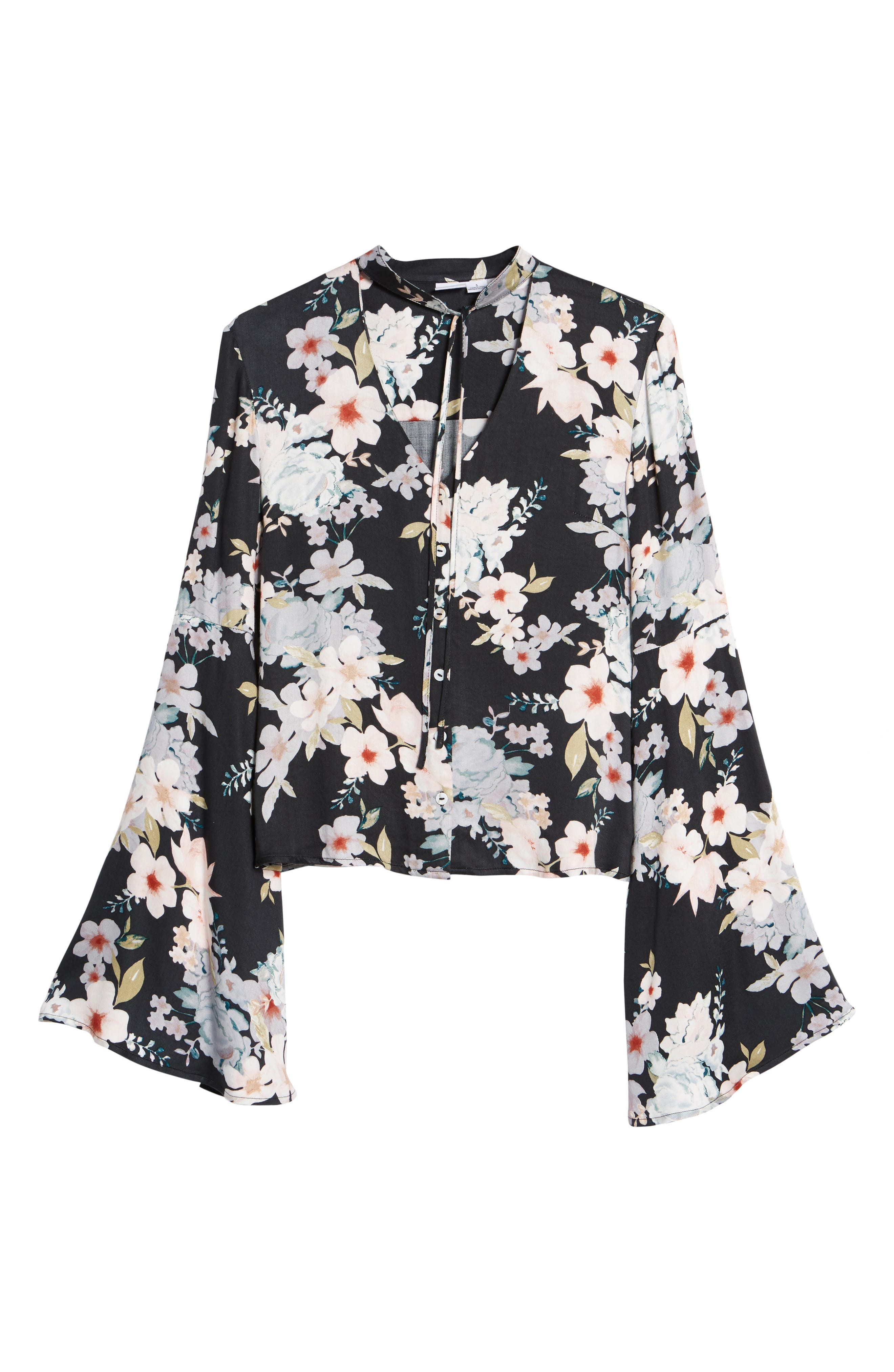 Mystic Nights Floral Blouse,                             Alternate thumbnail 6, color,                             400