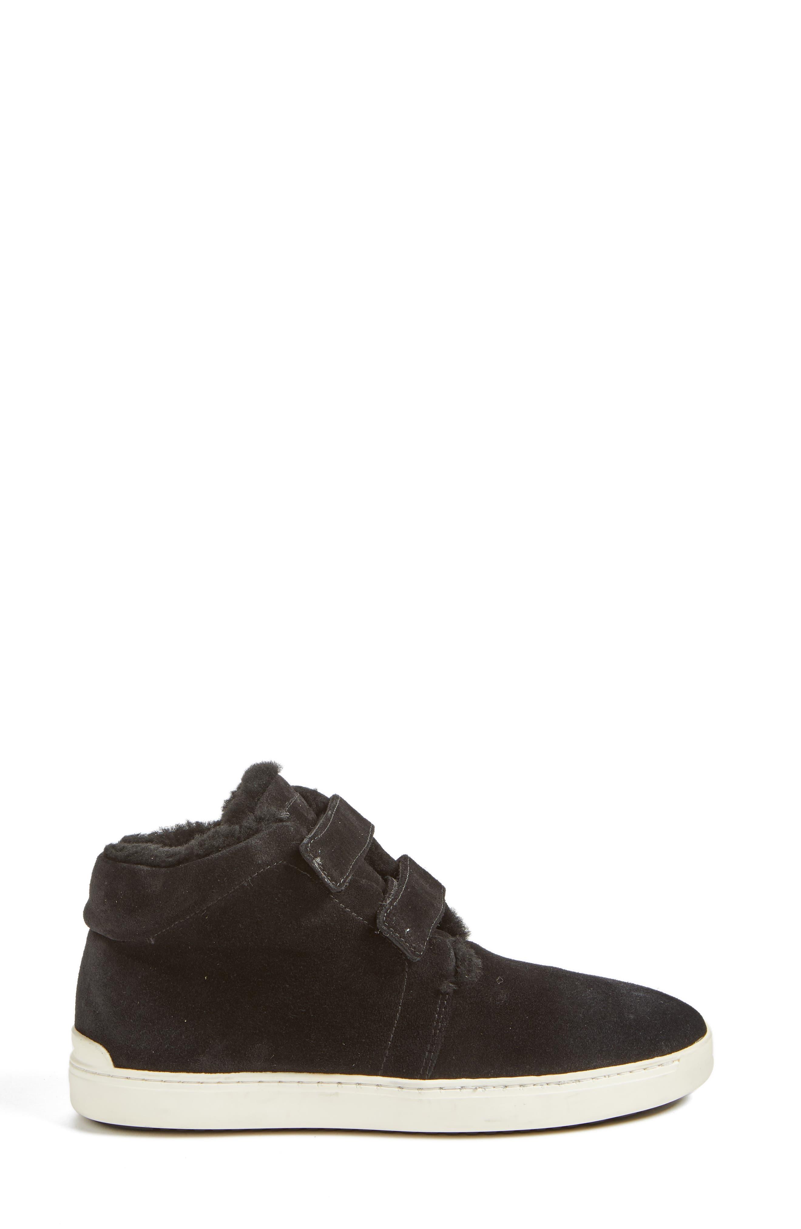 Kent Genuine Shearling Lined Sneaker,                             Alternate thumbnail 3, color,                             008