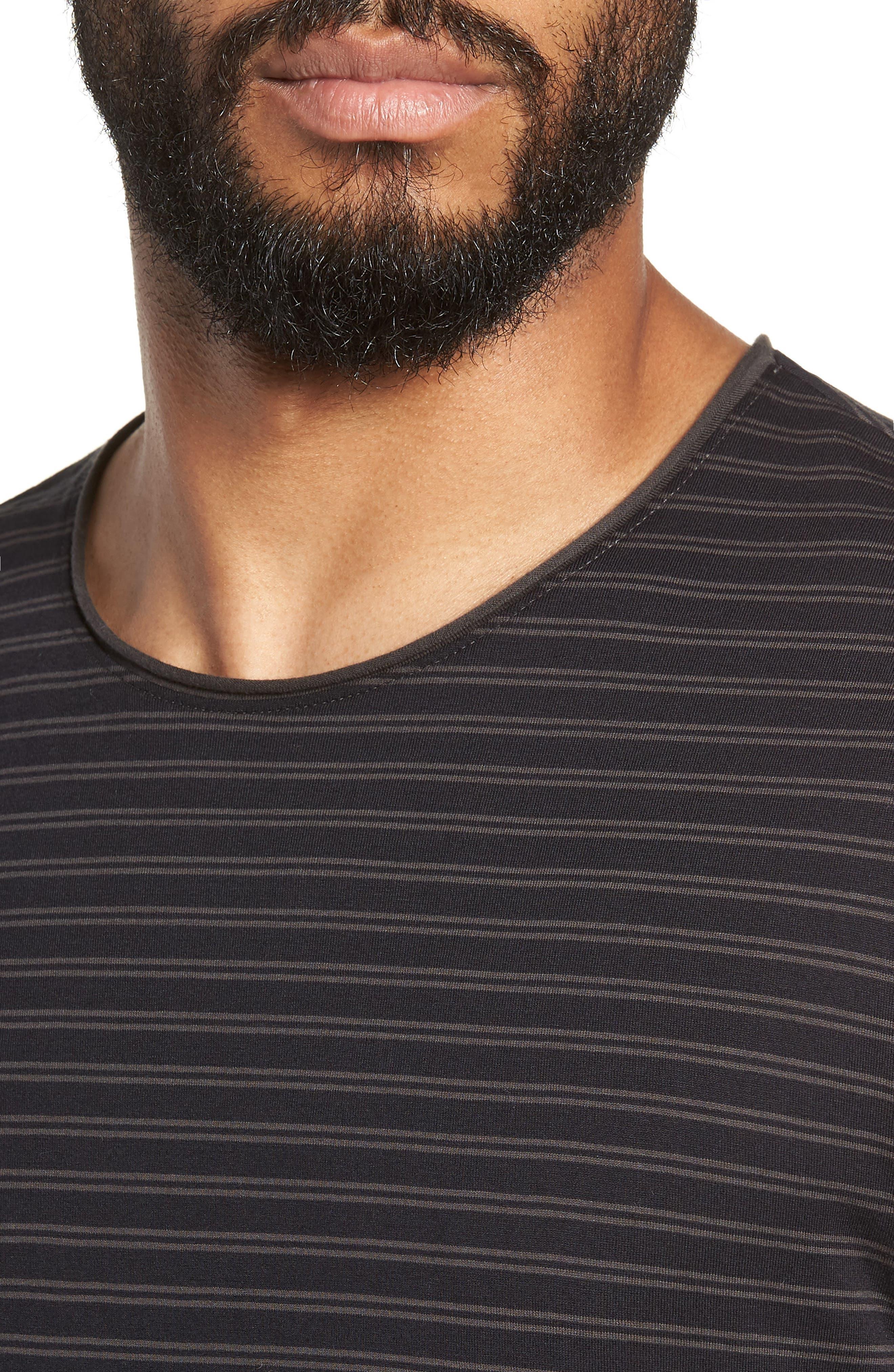 Double Stripe Long Sleeve T-Shirt,                             Alternate thumbnail 4, color,                             400