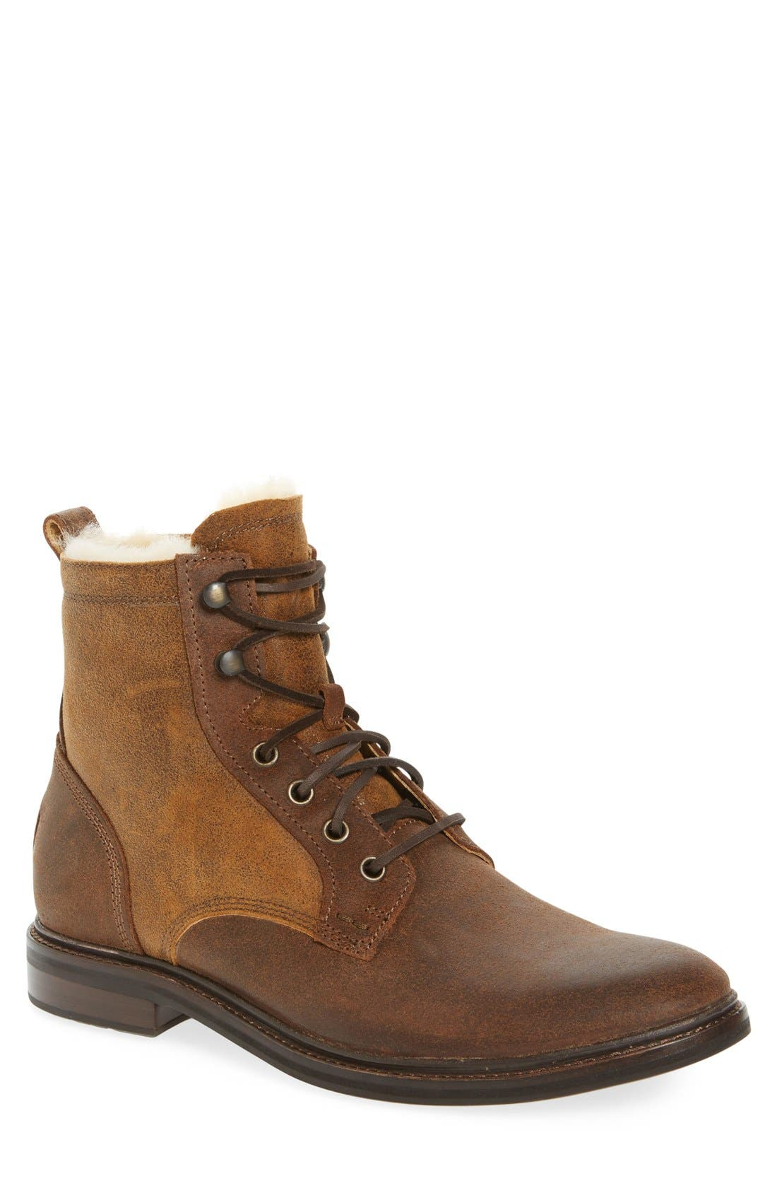 UGG<SUP>®</SUP> Selwood Genuine Shearling Bomber Boot, Main, color, 215