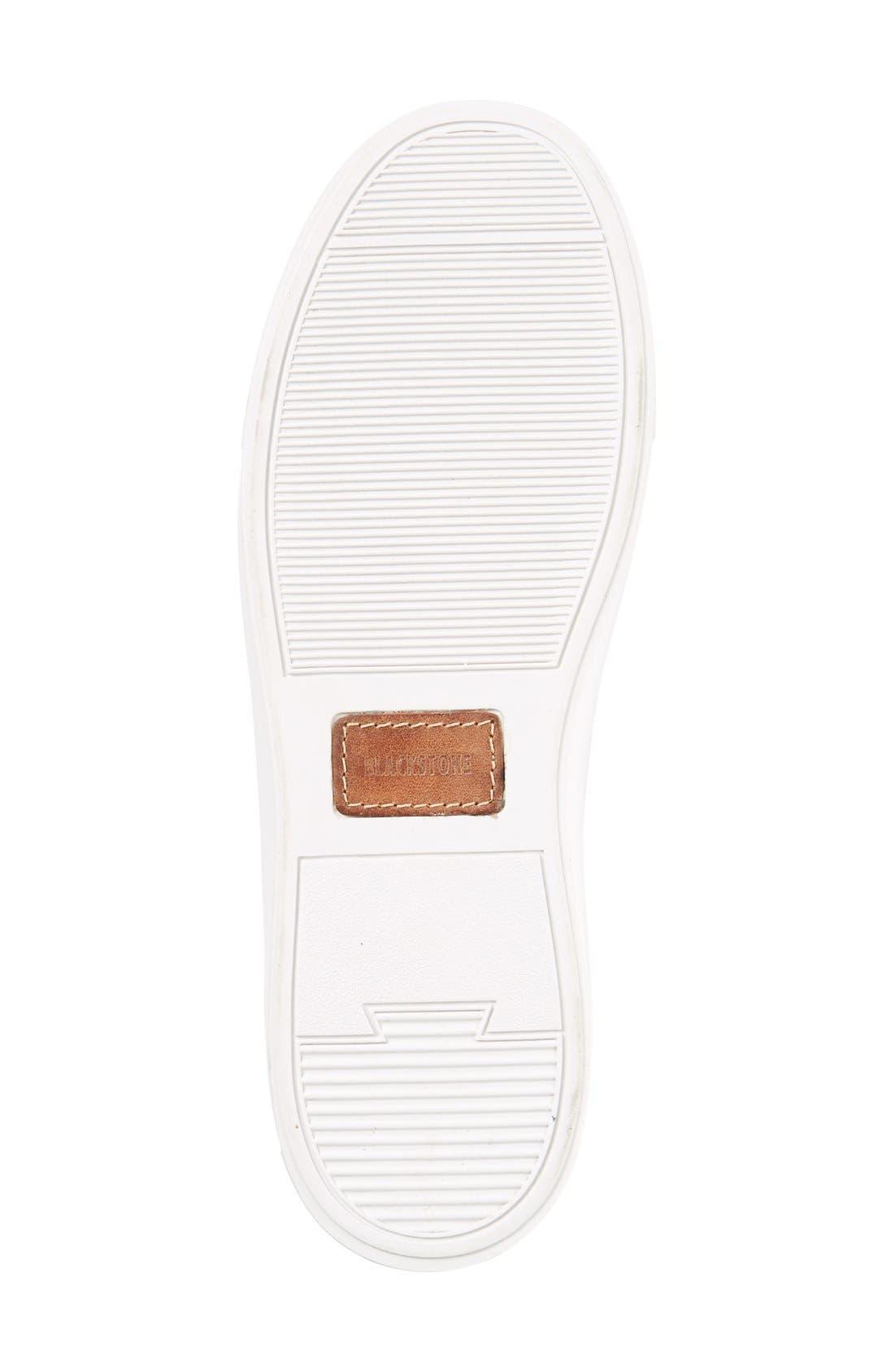 'LL60' Midi Sneaker,                             Alternate thumbnail 4, color,                             WHITE LEATHER