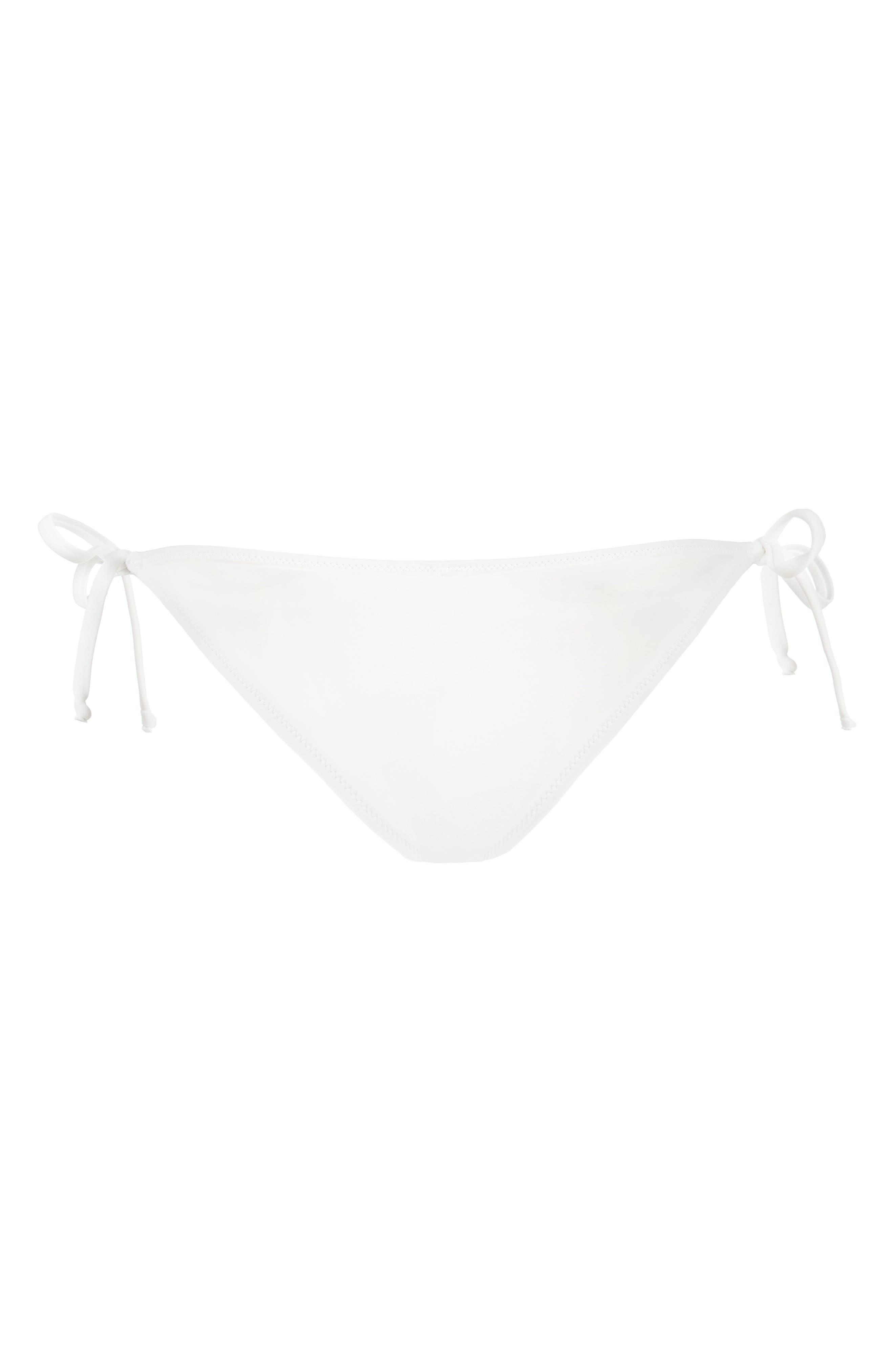 The String Bikini Swim Bottoms,                             Alternate thumbnail 3, color,                             LIVELY WHITE
