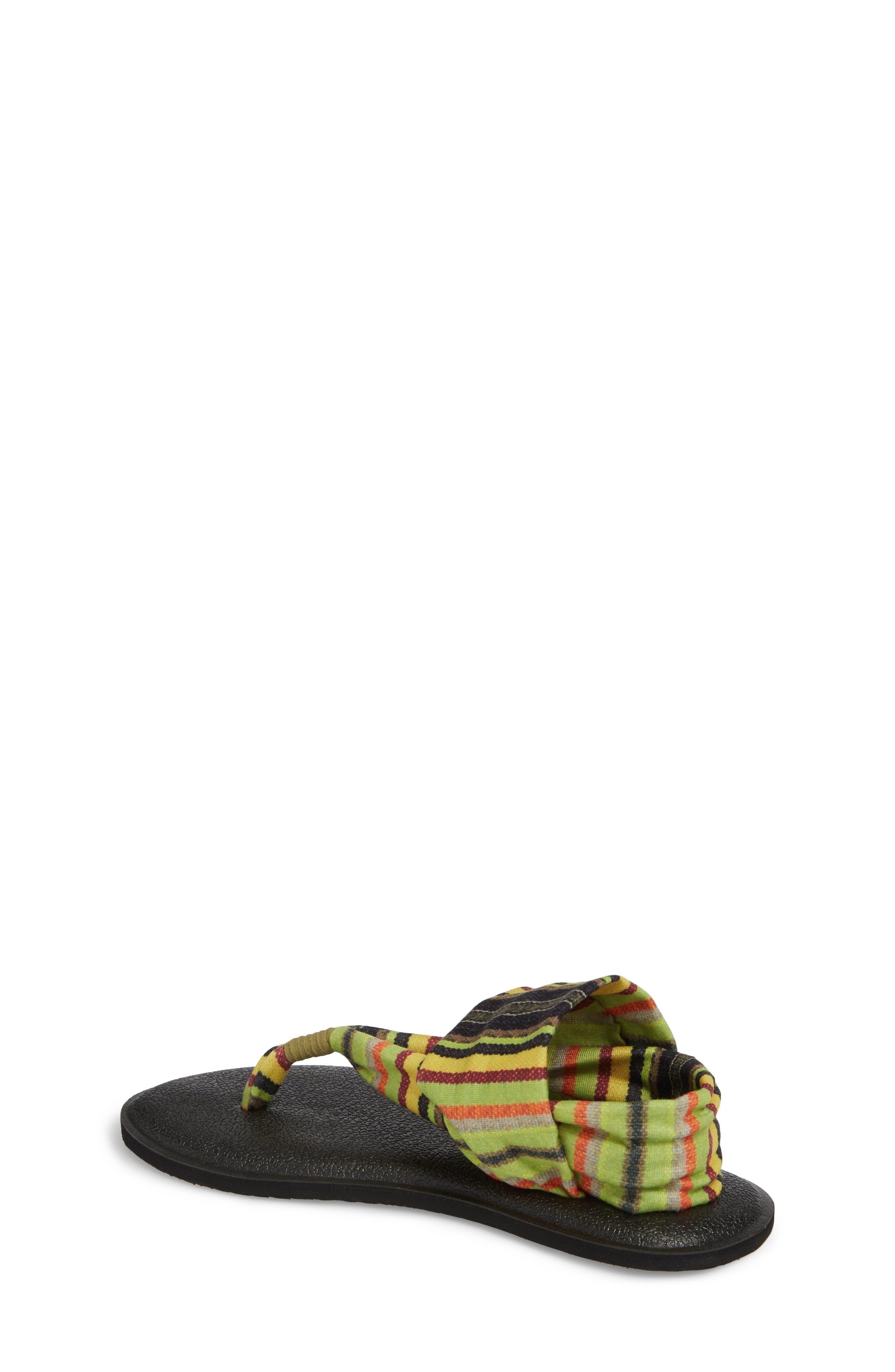 Yoga Sling Burst Sandal,                             Alternate thumbnail 2, color,                             GREEN KAUAI BLANKET