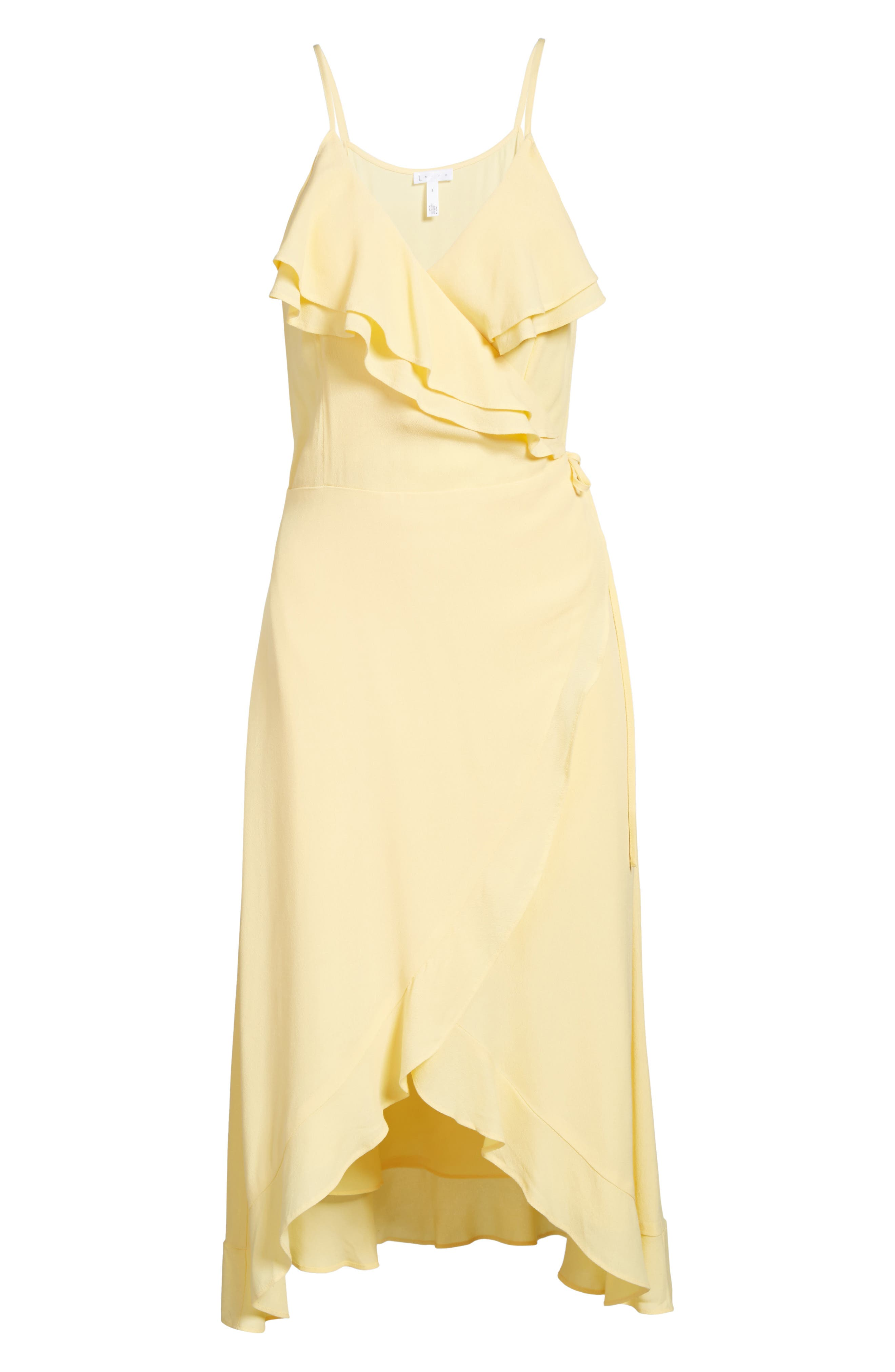 Flounce Wrap Midi Dress,                             Alternate thumbnail 25, color,