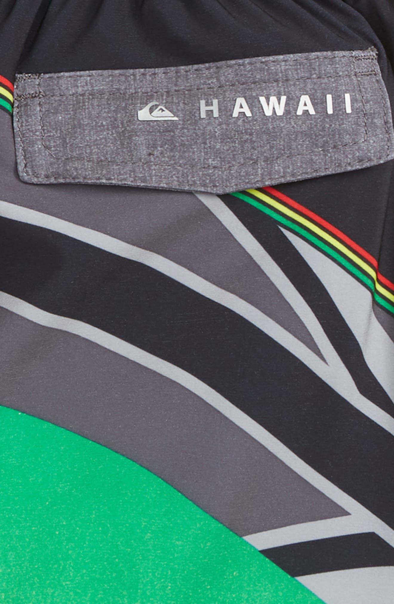 Highline Hawaii Serious Boy Board Shorts,                             Alternate thumbnail 3, color,                             BLACK