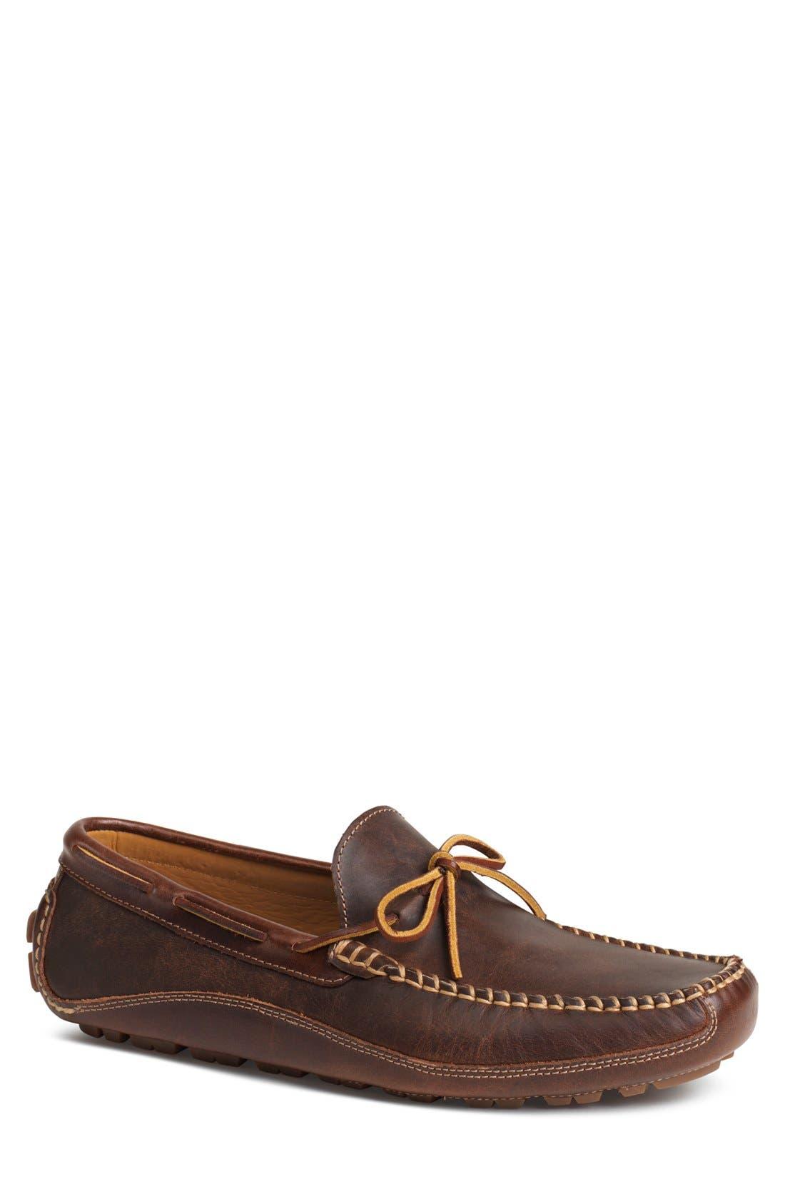 'Drake' Leather Driving Shoe,                             Main thumbnail 4, color,