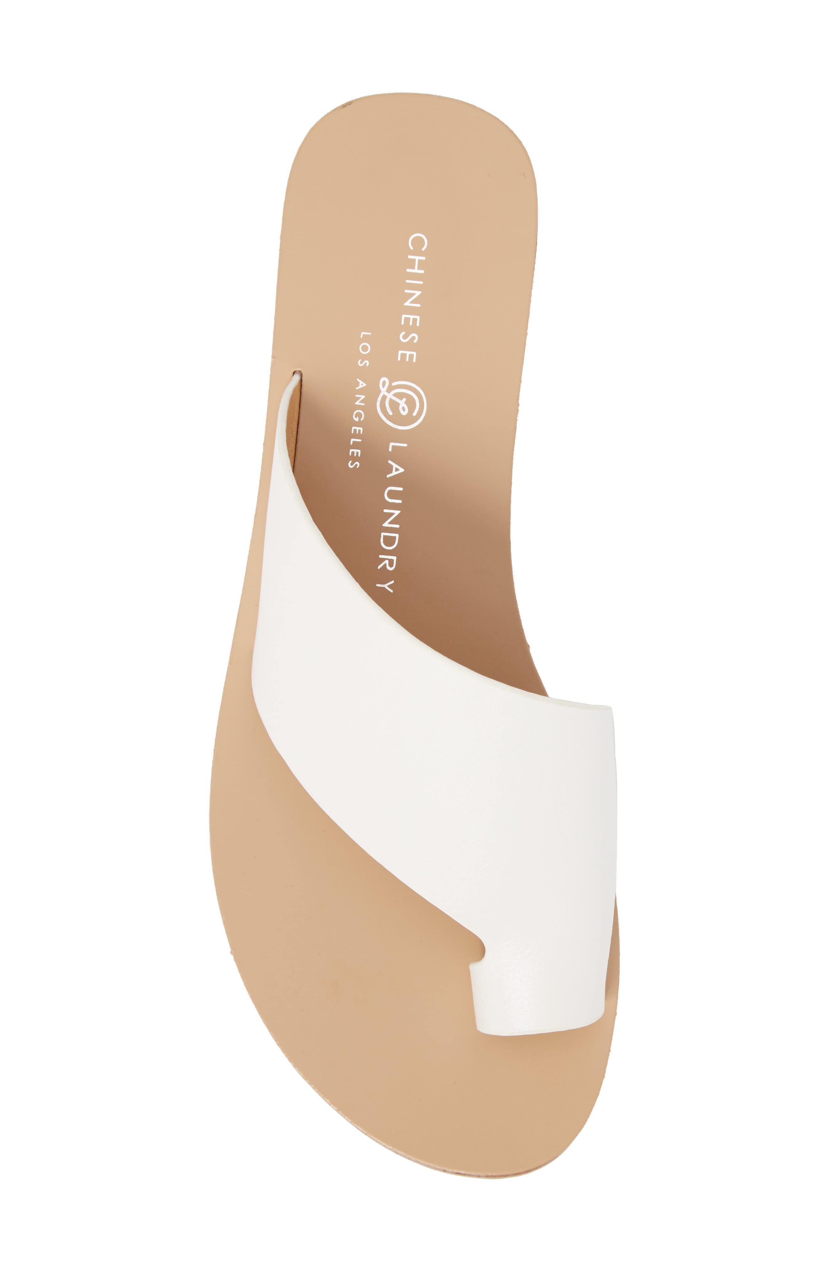 Glory Asymmetrical Slide Sandal,                             Alternate thumbnail 5, color,                             WHITE