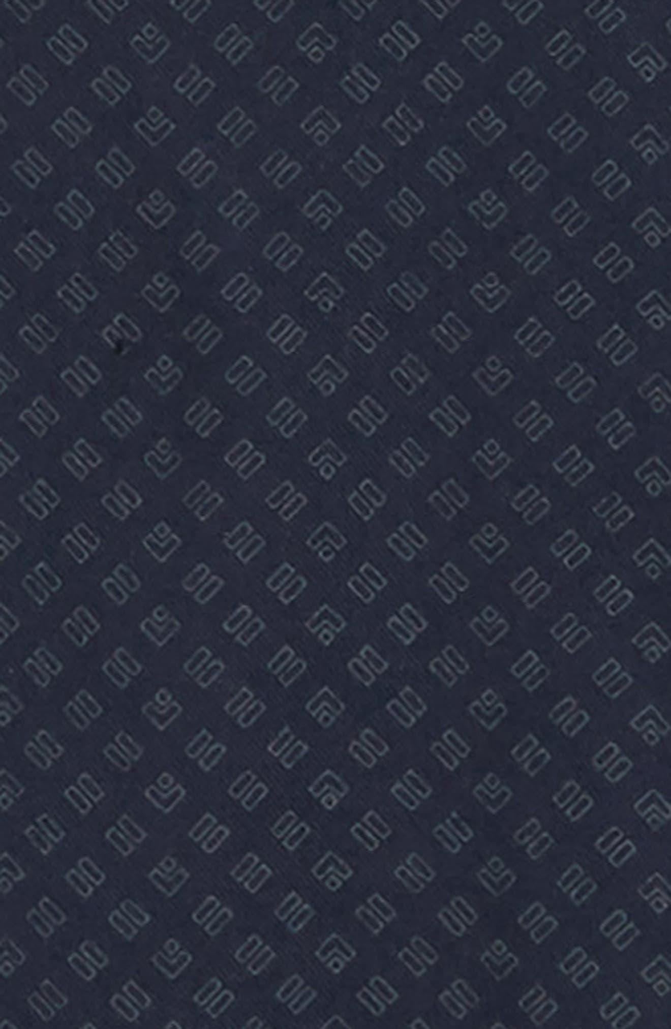 Classic Fit Square Print Sport Shirt,                             Alternate thumbnail 6, color,                             COASTAL