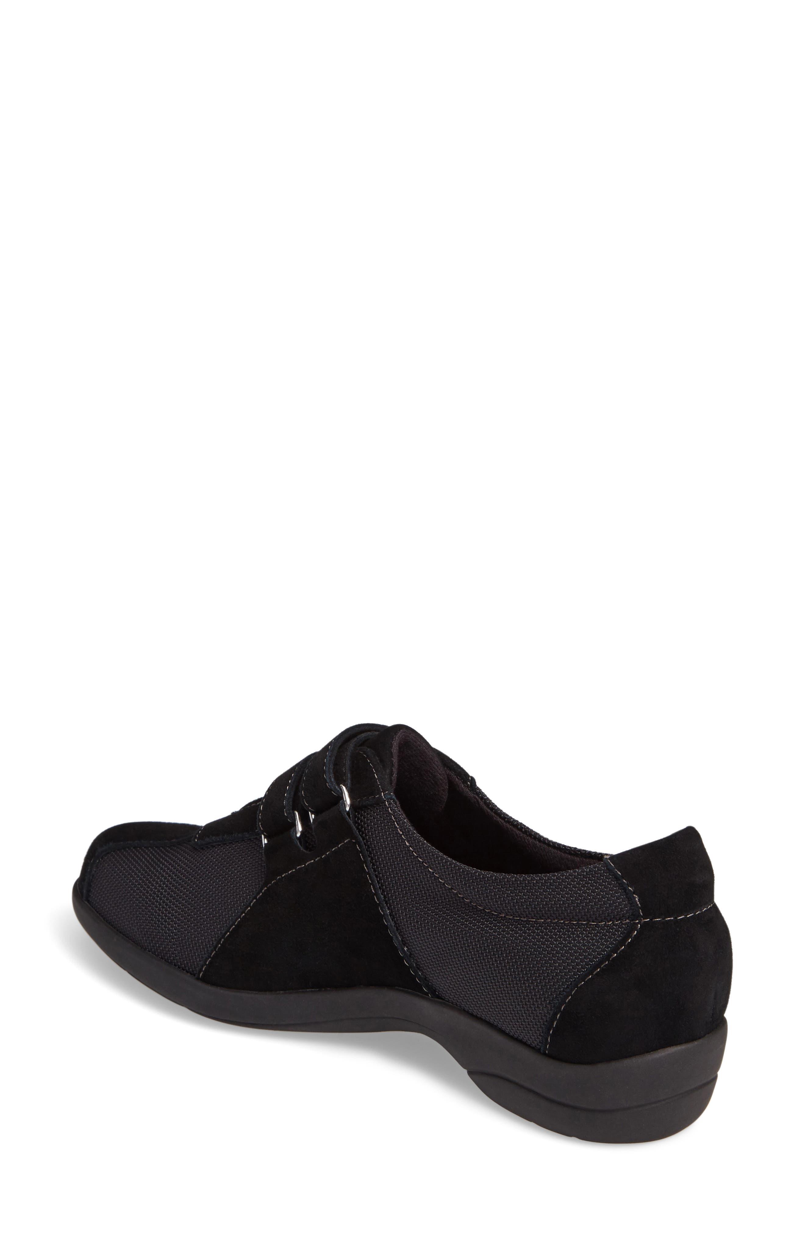 Joliet Sneaker,                             Alternate thumbnail 2, color,                             BLACK FABRIC