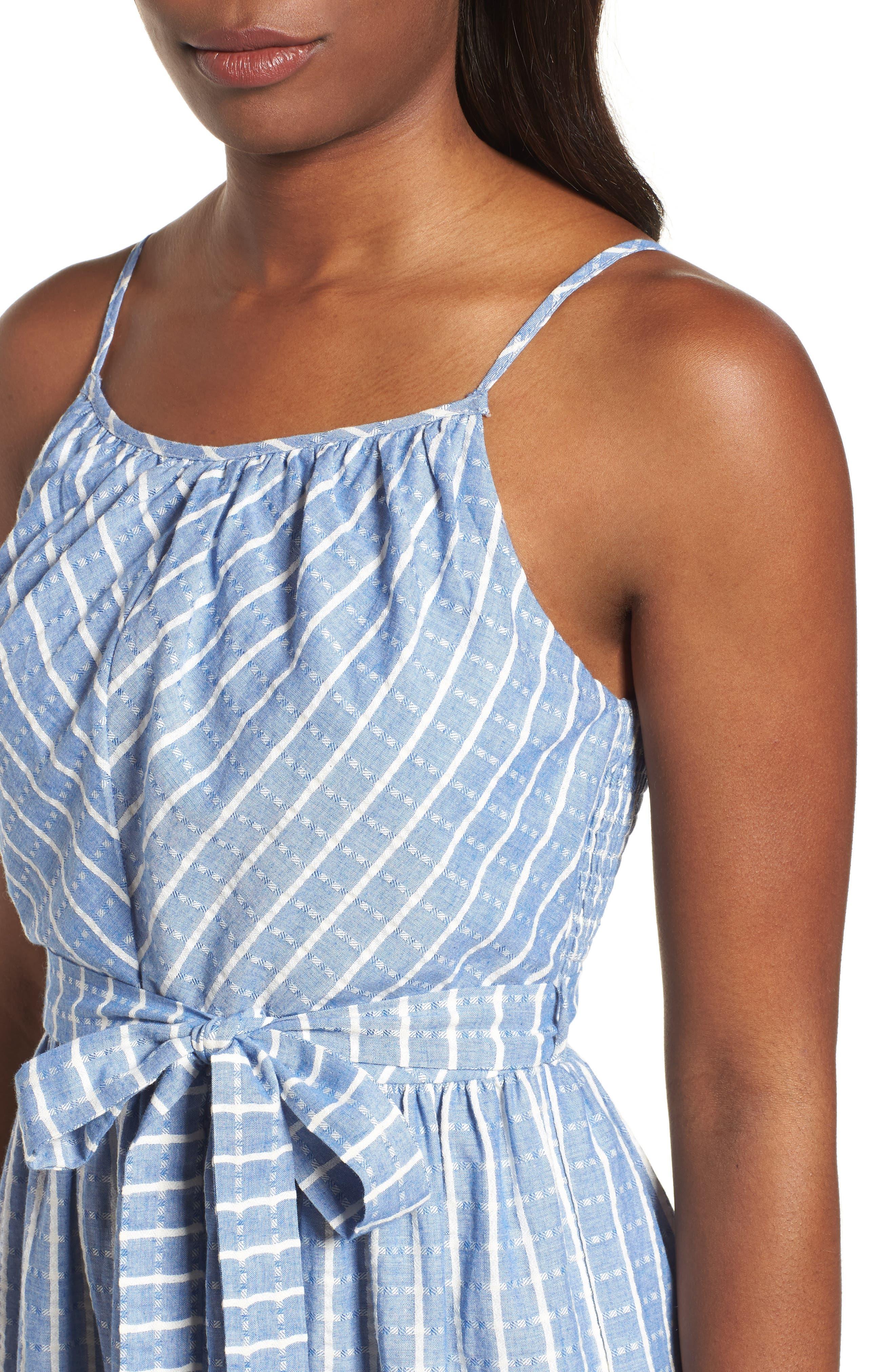 Tie Waist Cotton Maxi Dress,                             Alternate thumbnail 15, color,