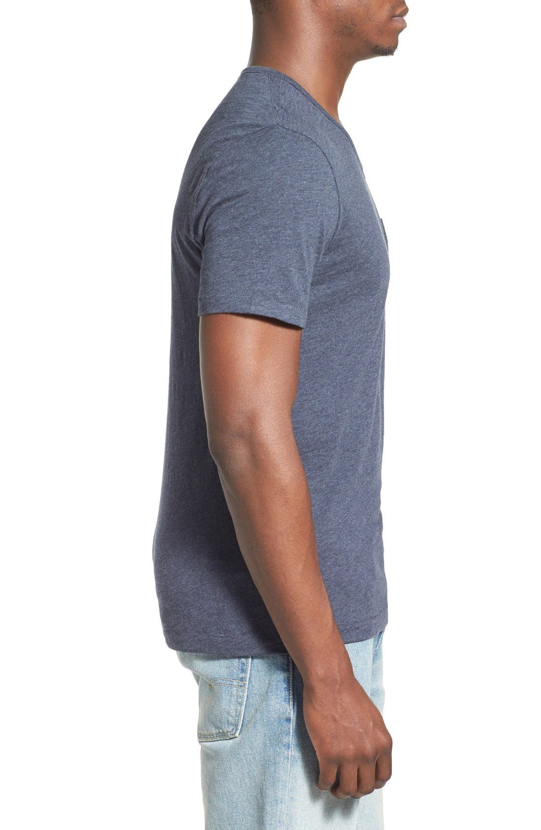 'Bing' V-Neck Pocket T-Shirt,                             Alternate thumbnail 9, color,