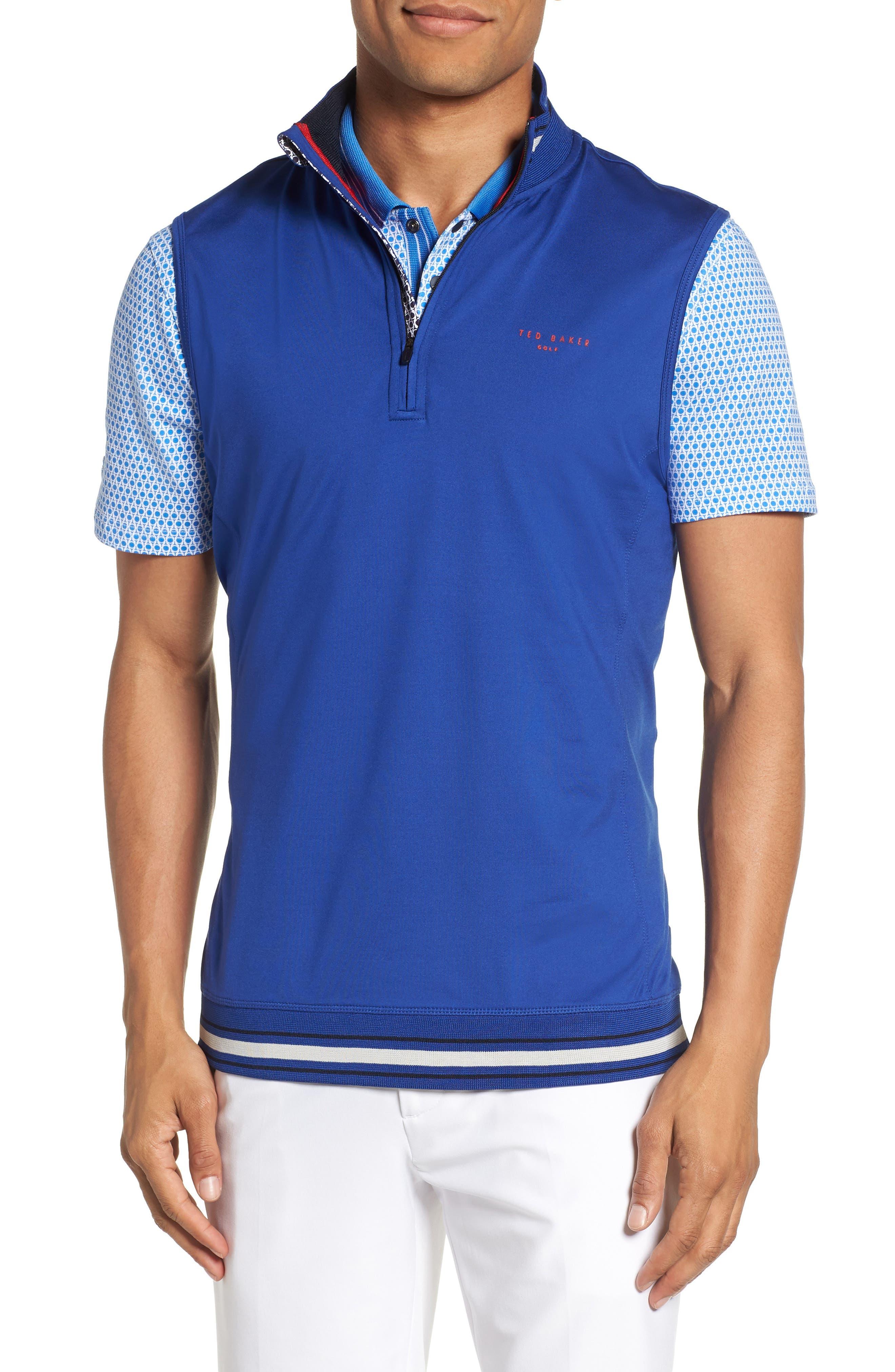 Gala Trim Golf Quarter-Zip Vest,                             Main thumbnail 1, color,                             430