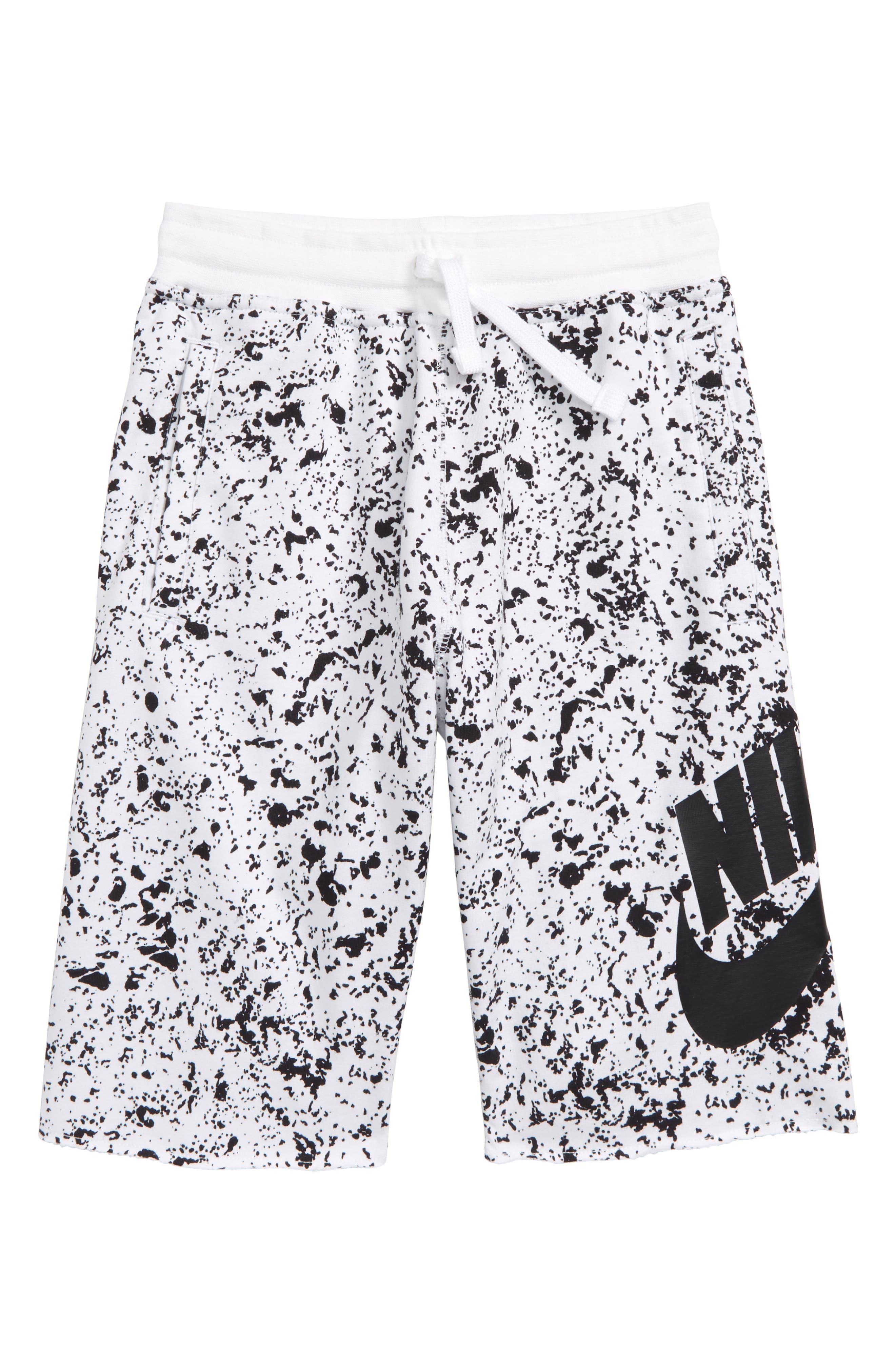 Sportswear Alumni Shorts,                             Main thumbnail 1, color,                             WHITE/ BLACK