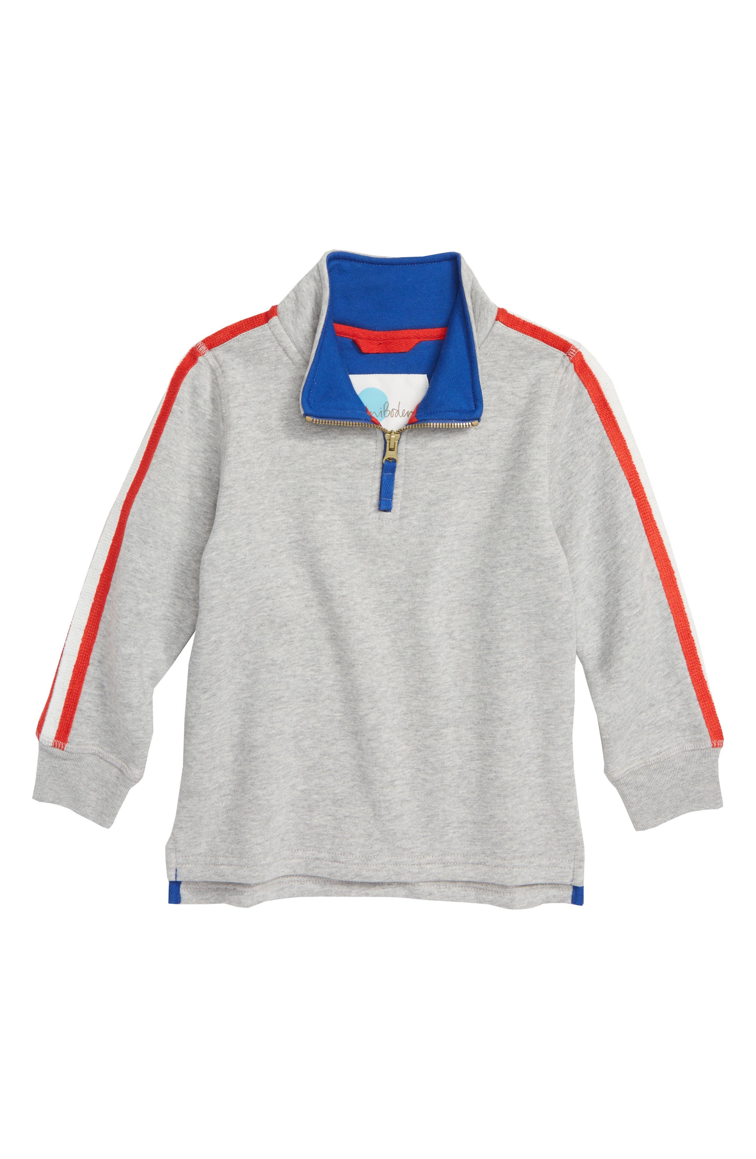 Half Zip Pullover,                             Main thumbnail 1, color,                             GREY MARL JASPE