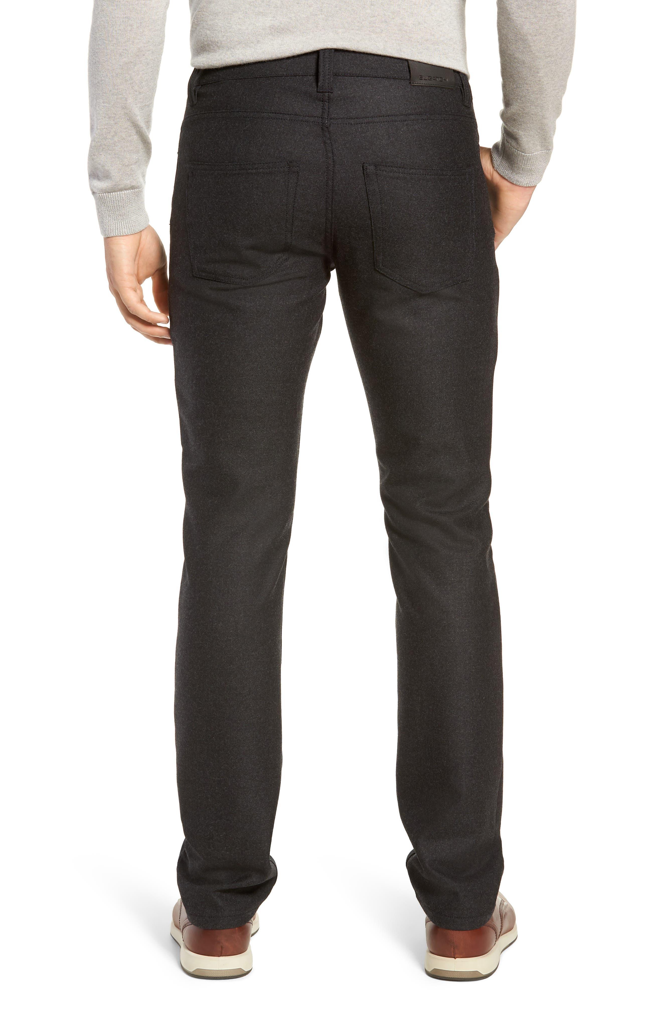 Slim Fit Wool Blend Pants,                             Alternate thumbnail 2, color,                             CHARCOAL