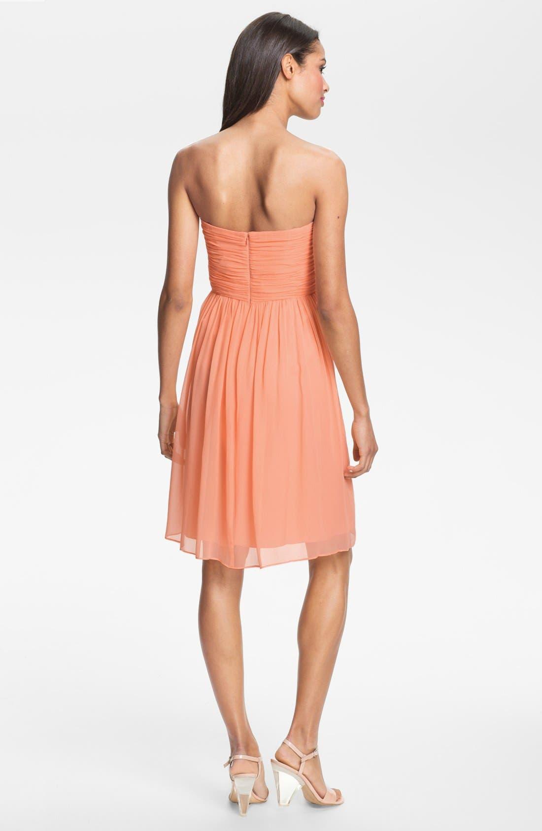 'Morgan' Strapless Silk Chiffon Dress,                             Alternate thumbnail 140, color,