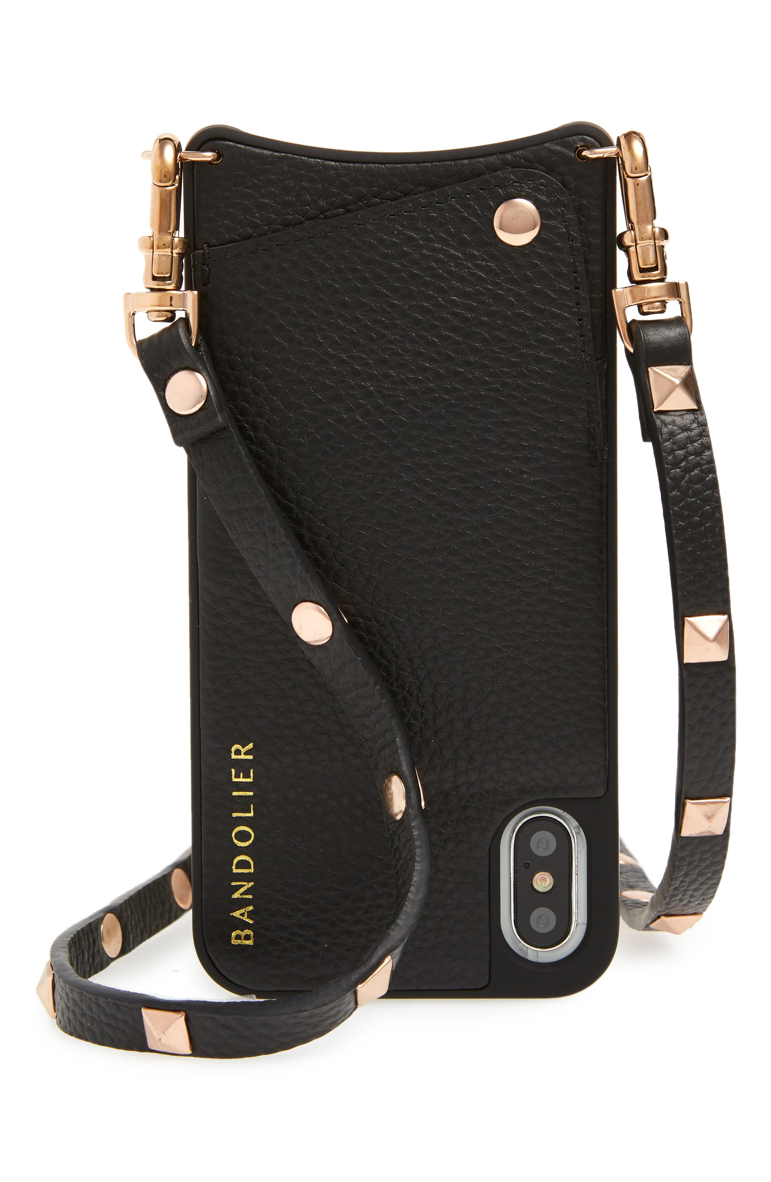 Sarah iPhone X & Xs Crossbody Case,                             Main thumbnail 1, color,