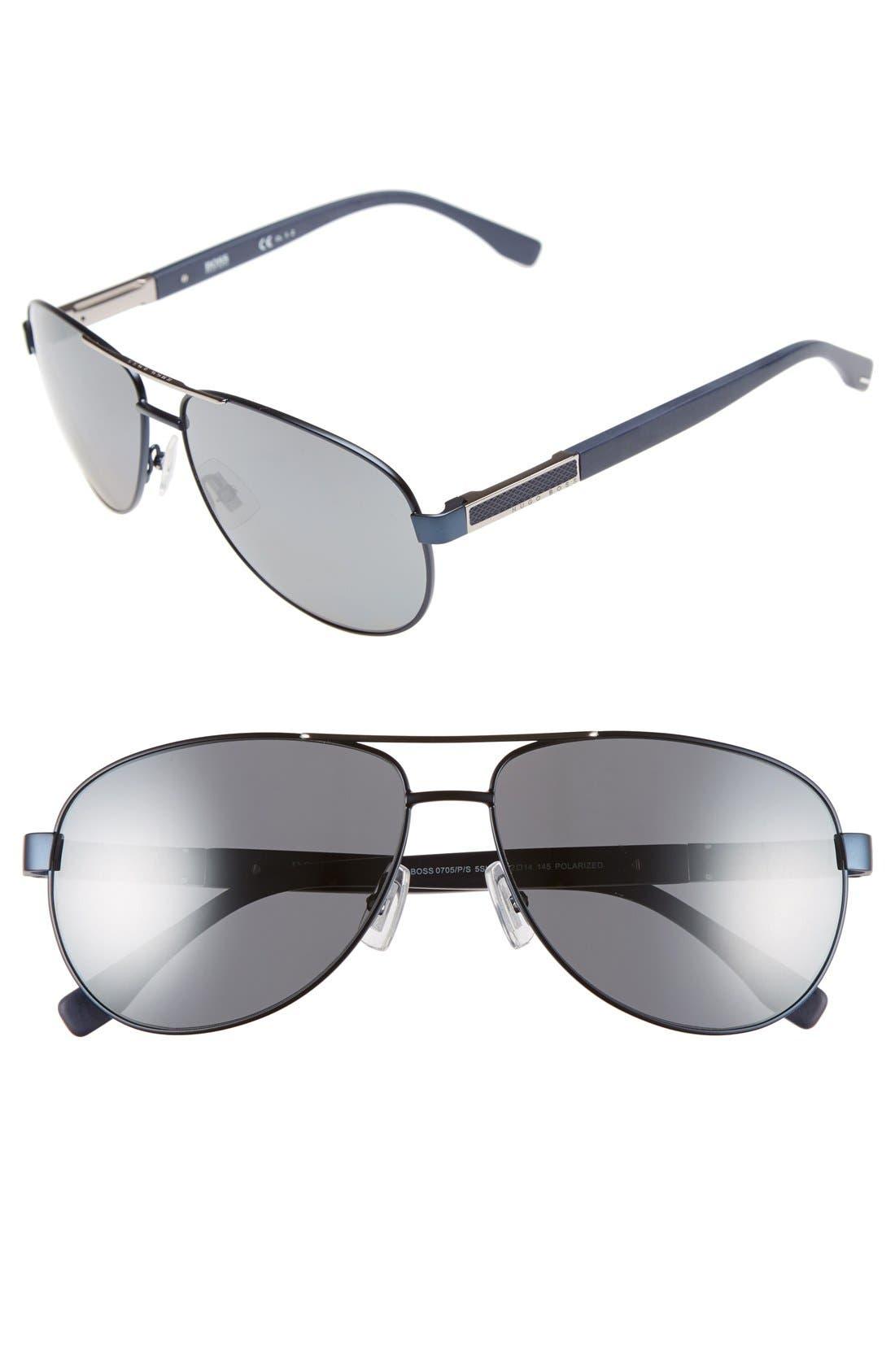 62mm Polarized Aviator Sunglasses,                             Main thumbnail 3, color,