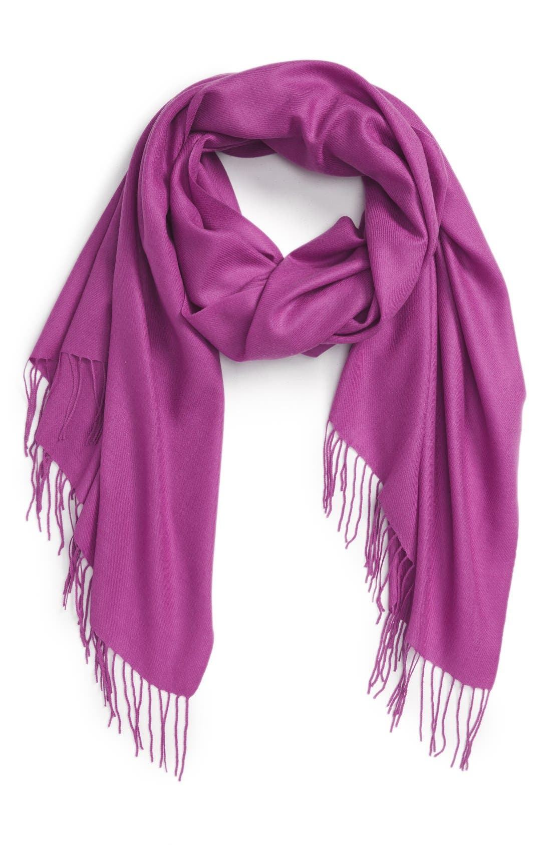 Tissue Weight Wool & Cashmere Scarf,                             Main thumbnail 43, color,
