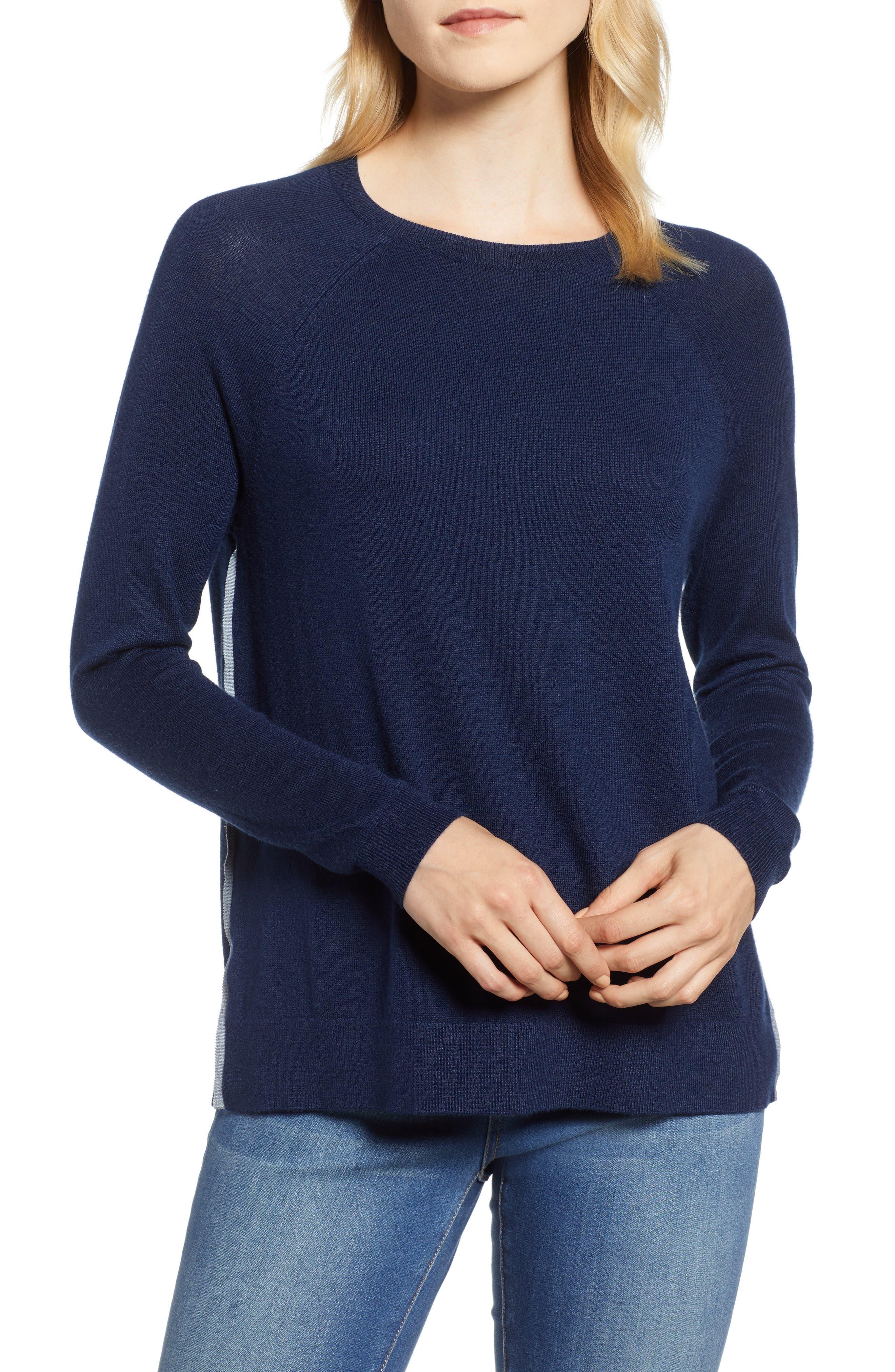Back Zip Crewneck Sweater,                             Main thumbnail 1, color,                             476