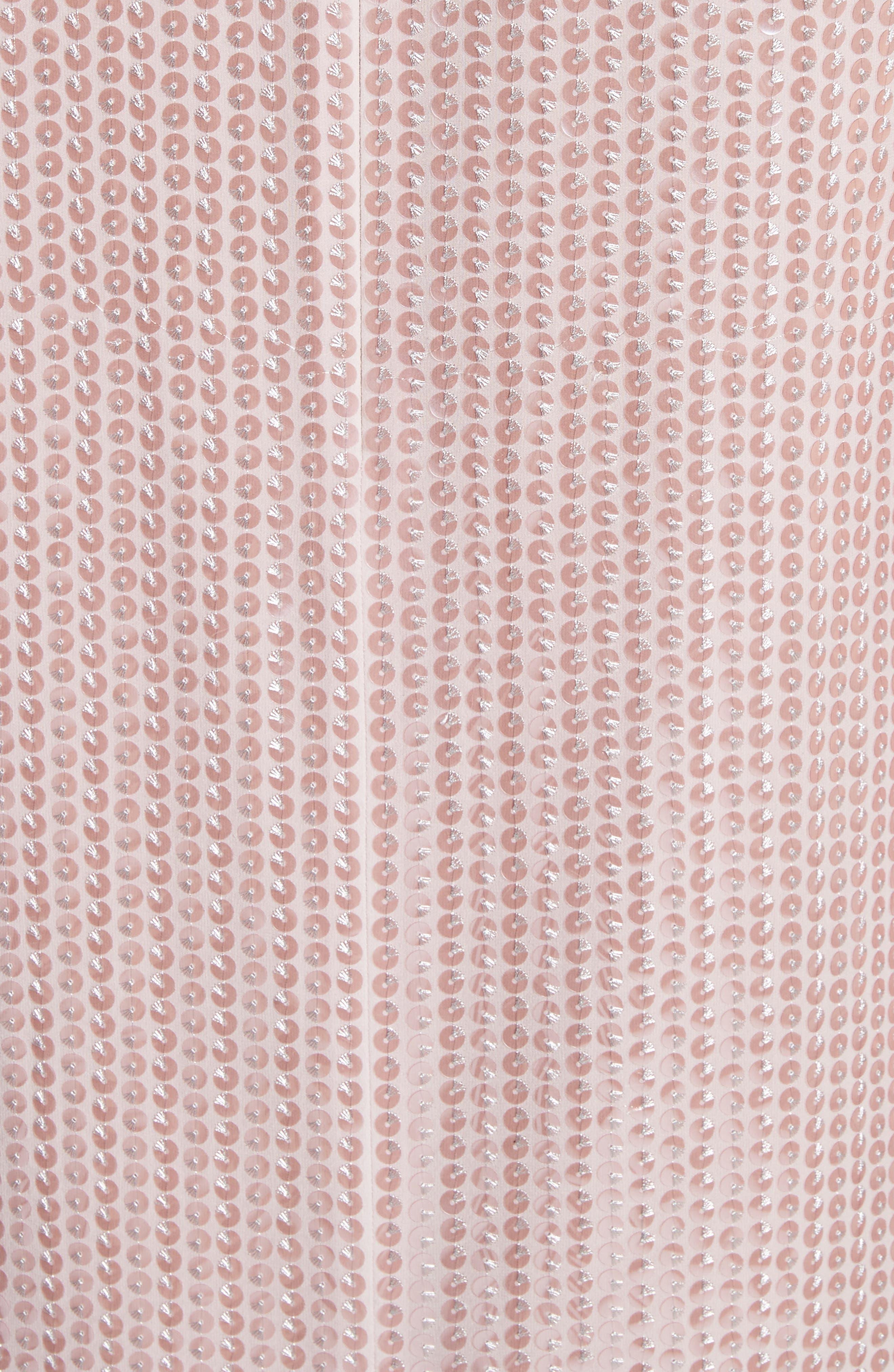 Sequin Silk Georgette Column Gown,                             Alternate thumbnail 5, color,                             680