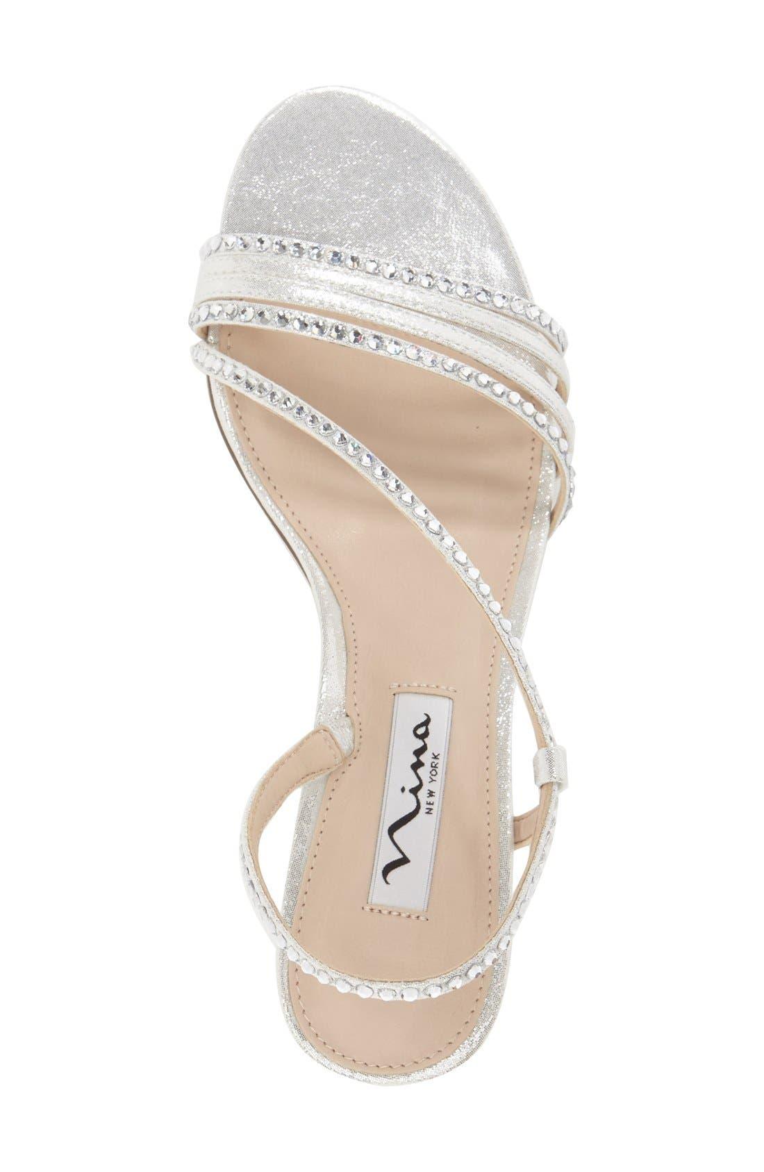 'Gerri' Embellished Slingback Sandal,                             Alternate thumbnail 2, color,                             SILVER SUEDE