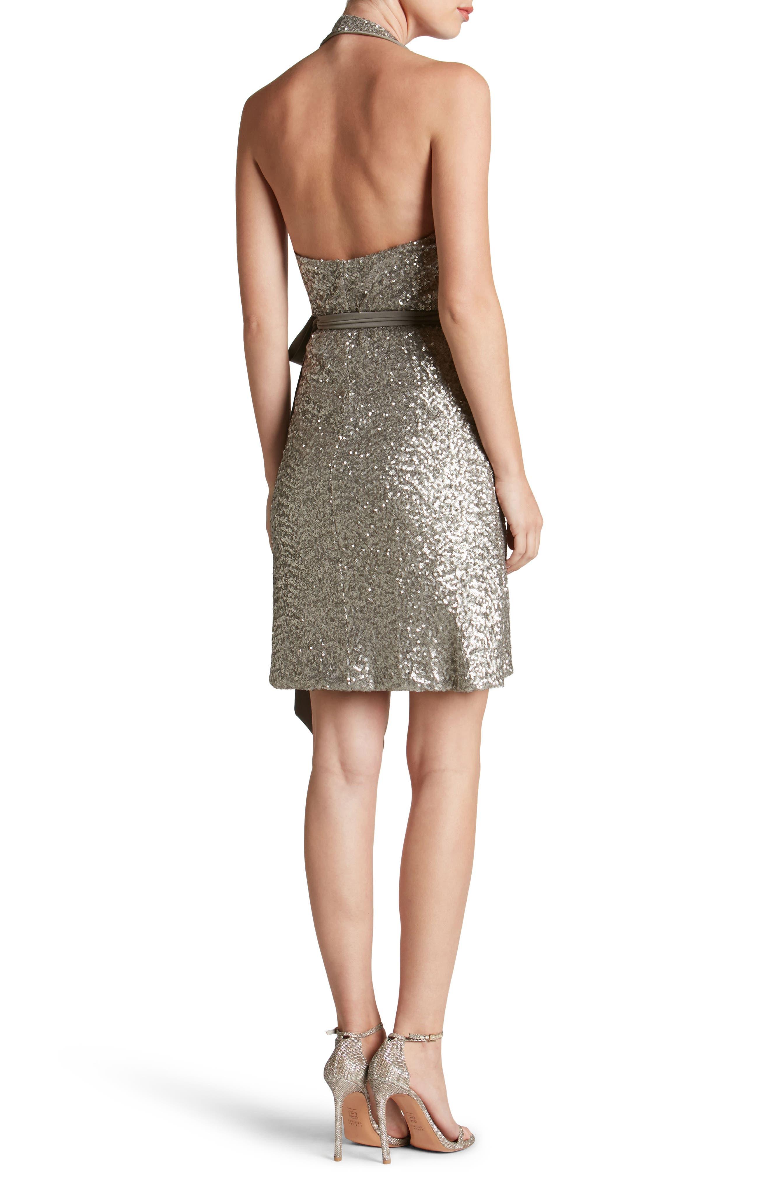 Danielle Sequin Wrap Mini Dress,                             Alternate thumbnail 5, color,