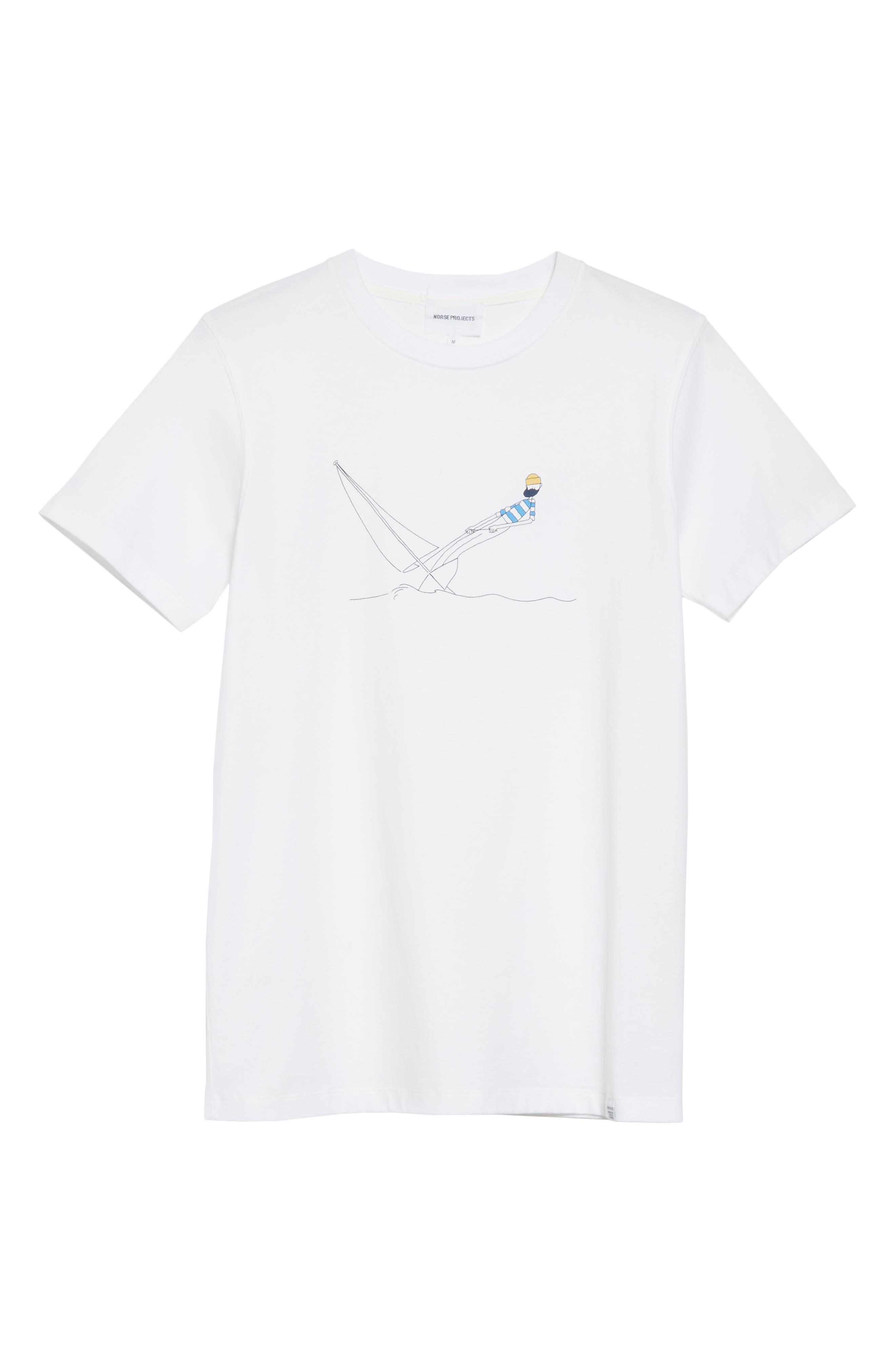 Daniel Frost - Hanging Graphic T-Shirt,                             Alternate thumbnail 6, color,                             WHITE