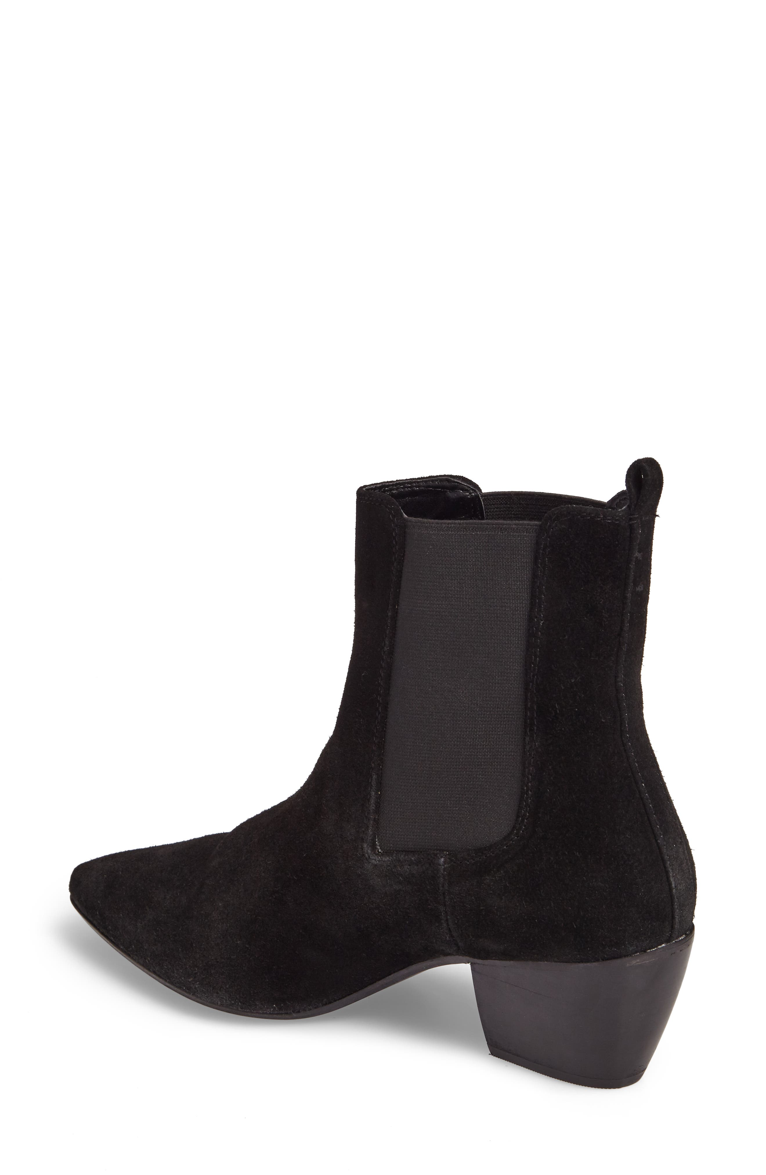 Bounty Suede Pointy Toe Bootie,                             Alternate thumbnail 2, color,