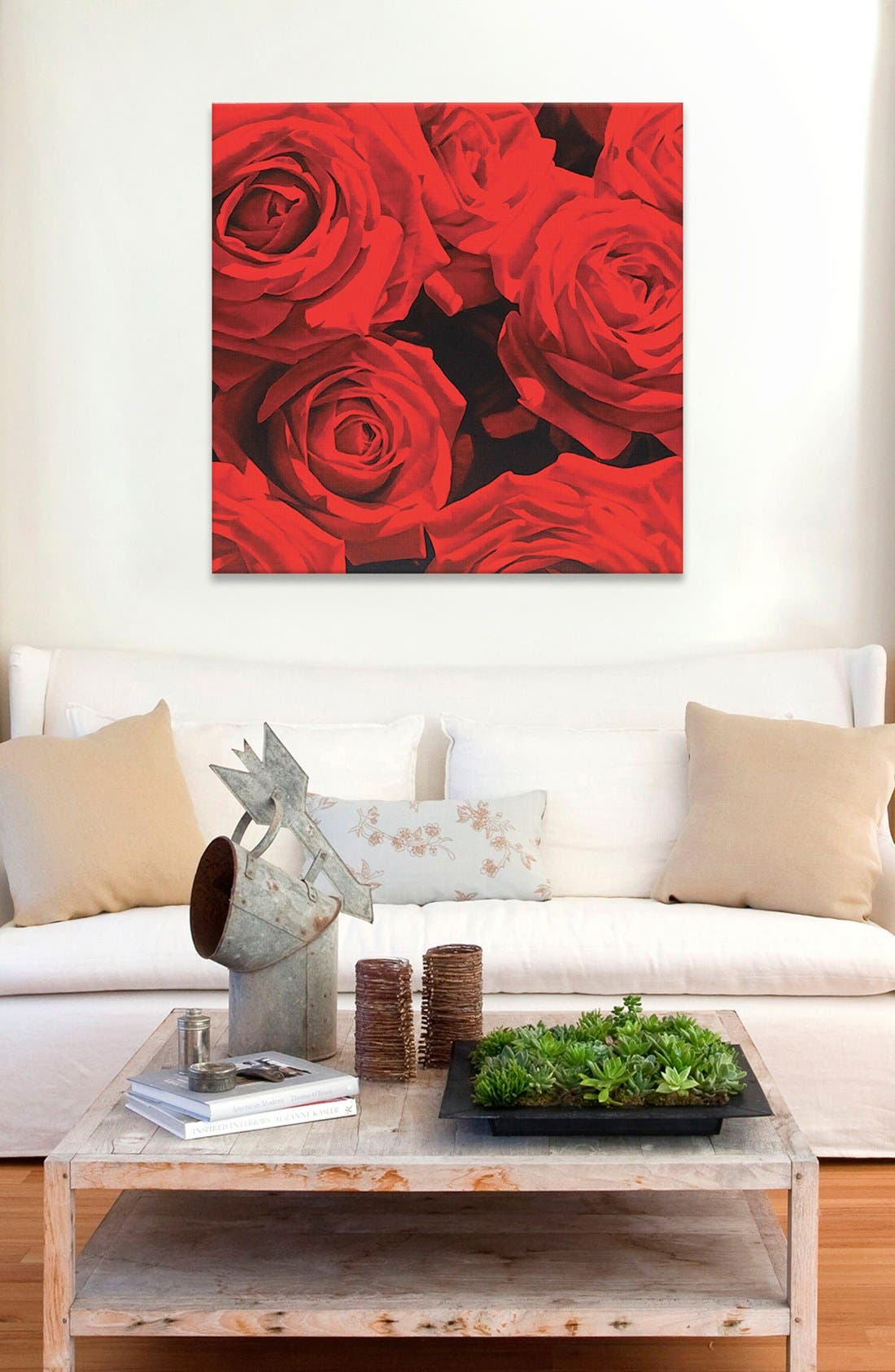 'Red Roses' Giclée Print Canvas Art,                             Alternate thumbnail 2, color,                             600