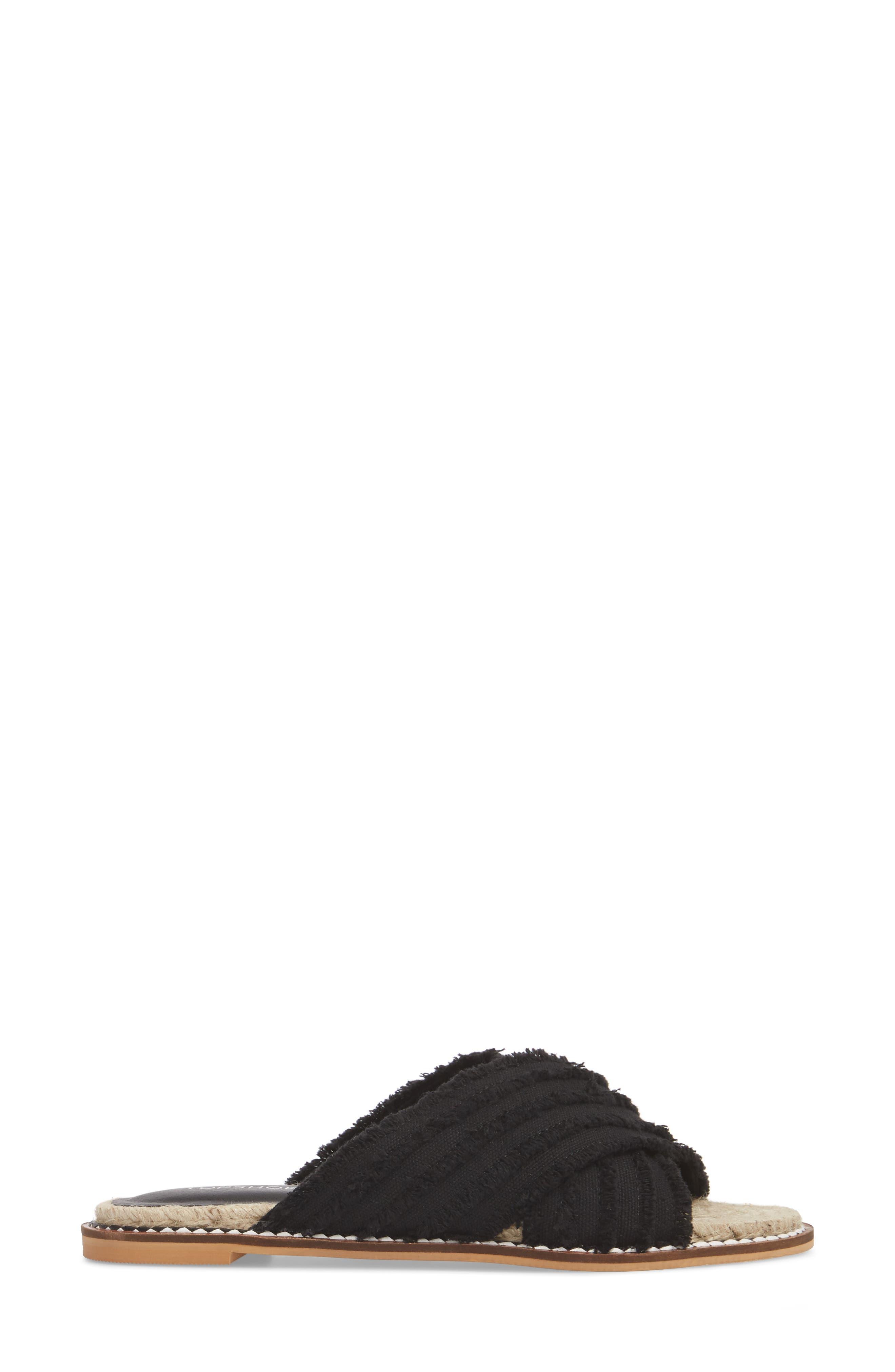 Hibiscus Slide Sandal,                             Alternate thumbnail 3, color,                             001