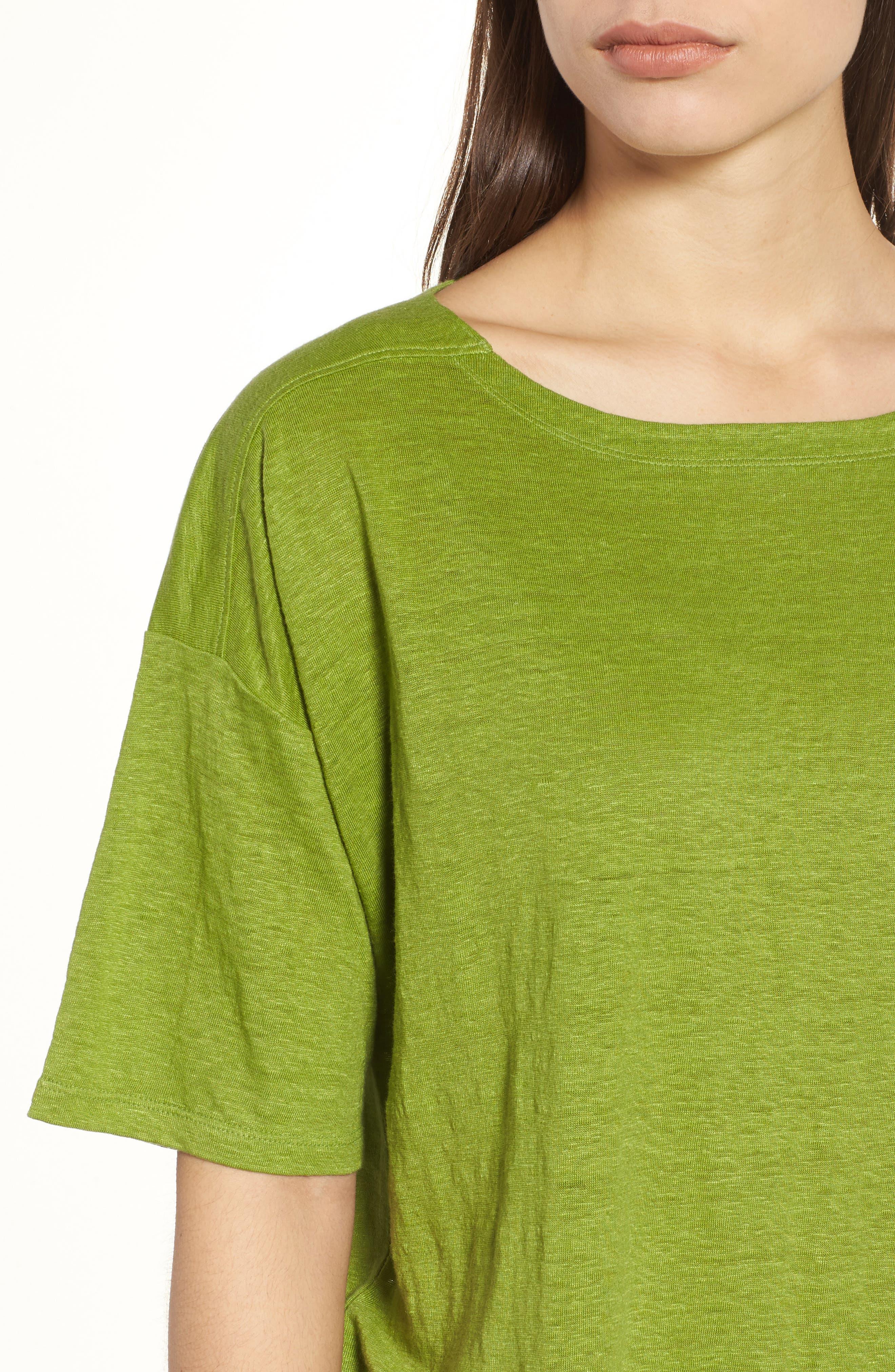 Slouchy Organic Linen Top,                             Alternate thumbnail 22, color,